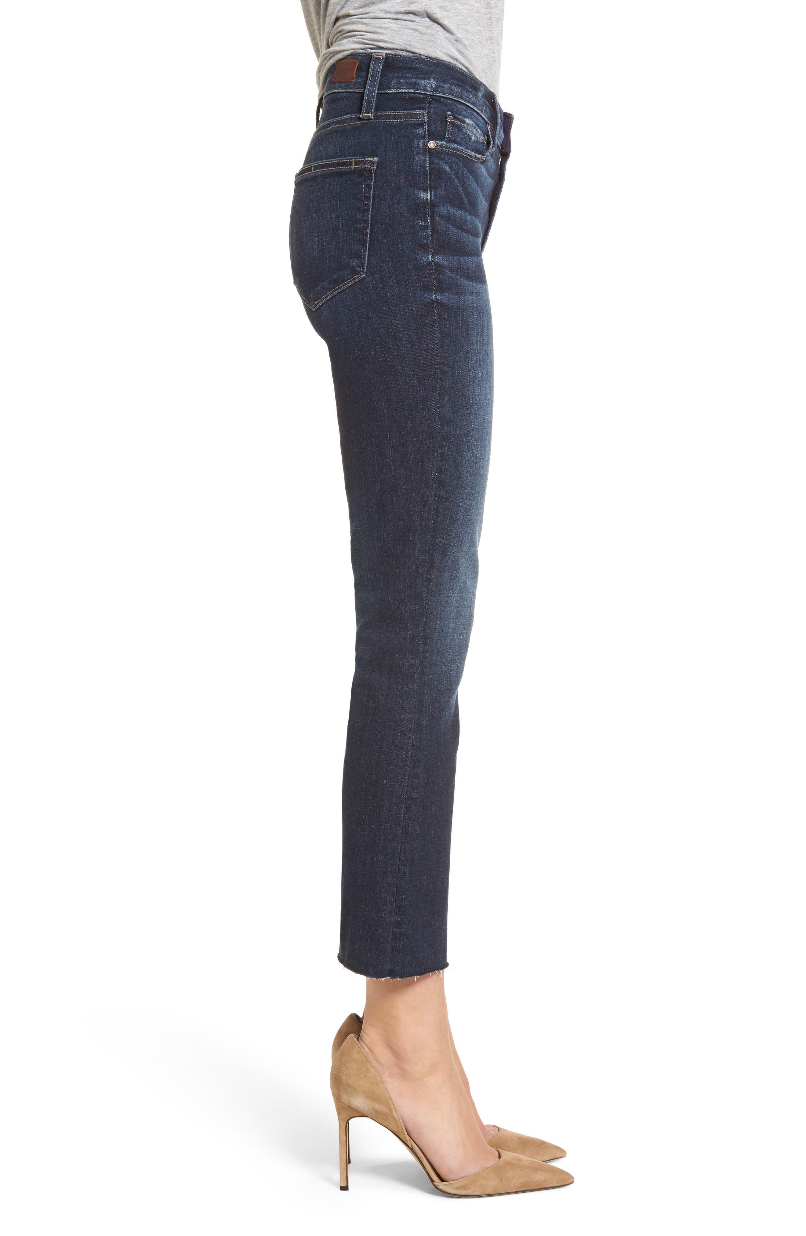 Transcend Vintage - Colette Crop Flare Jeans,                             Alternate thumbnail 3, color,                             ANZA