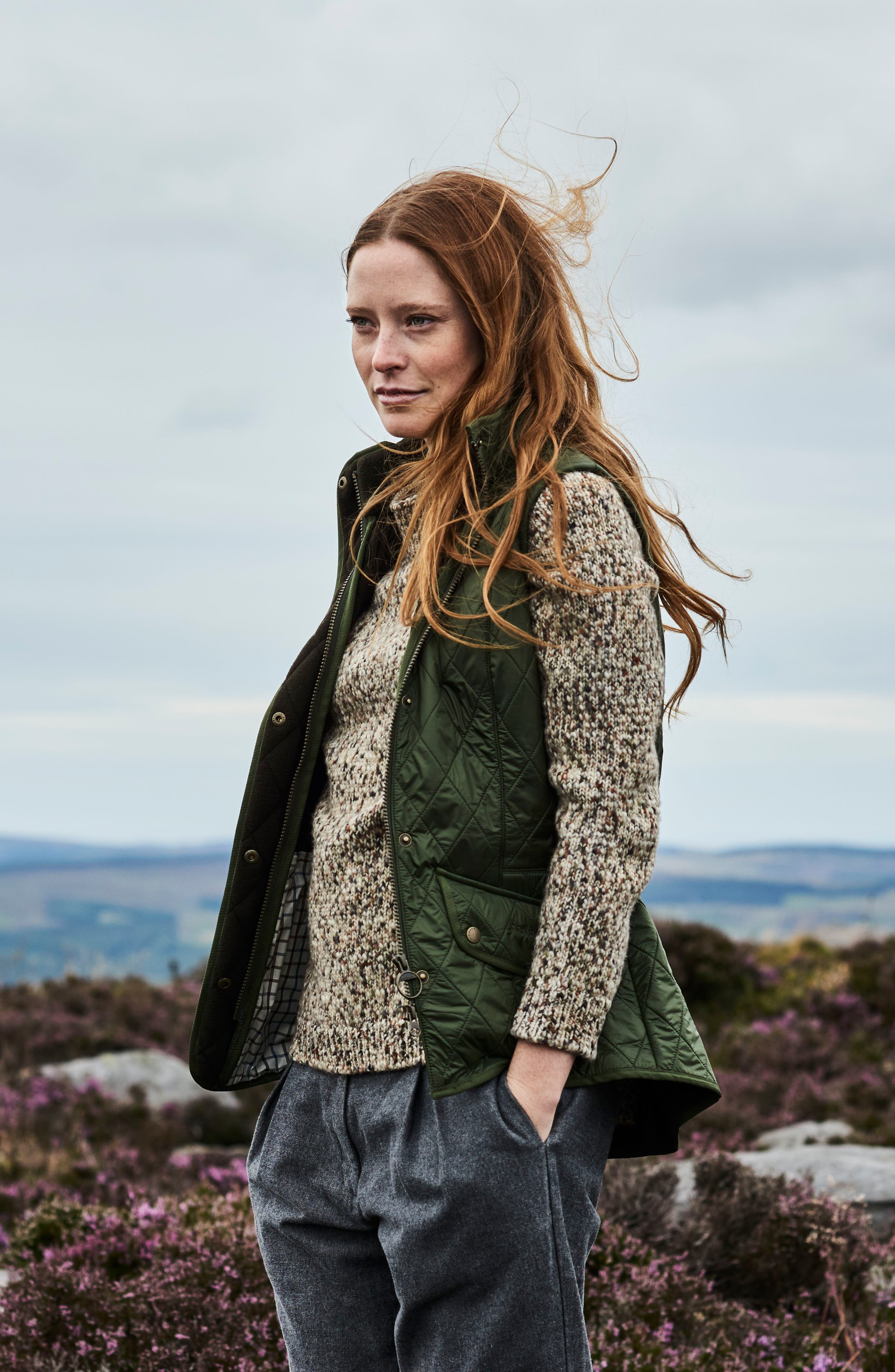 'Cavalry' Quilted Vest,                             Alternate thumbnail 11, color,                             OLIVE/ OLIVE