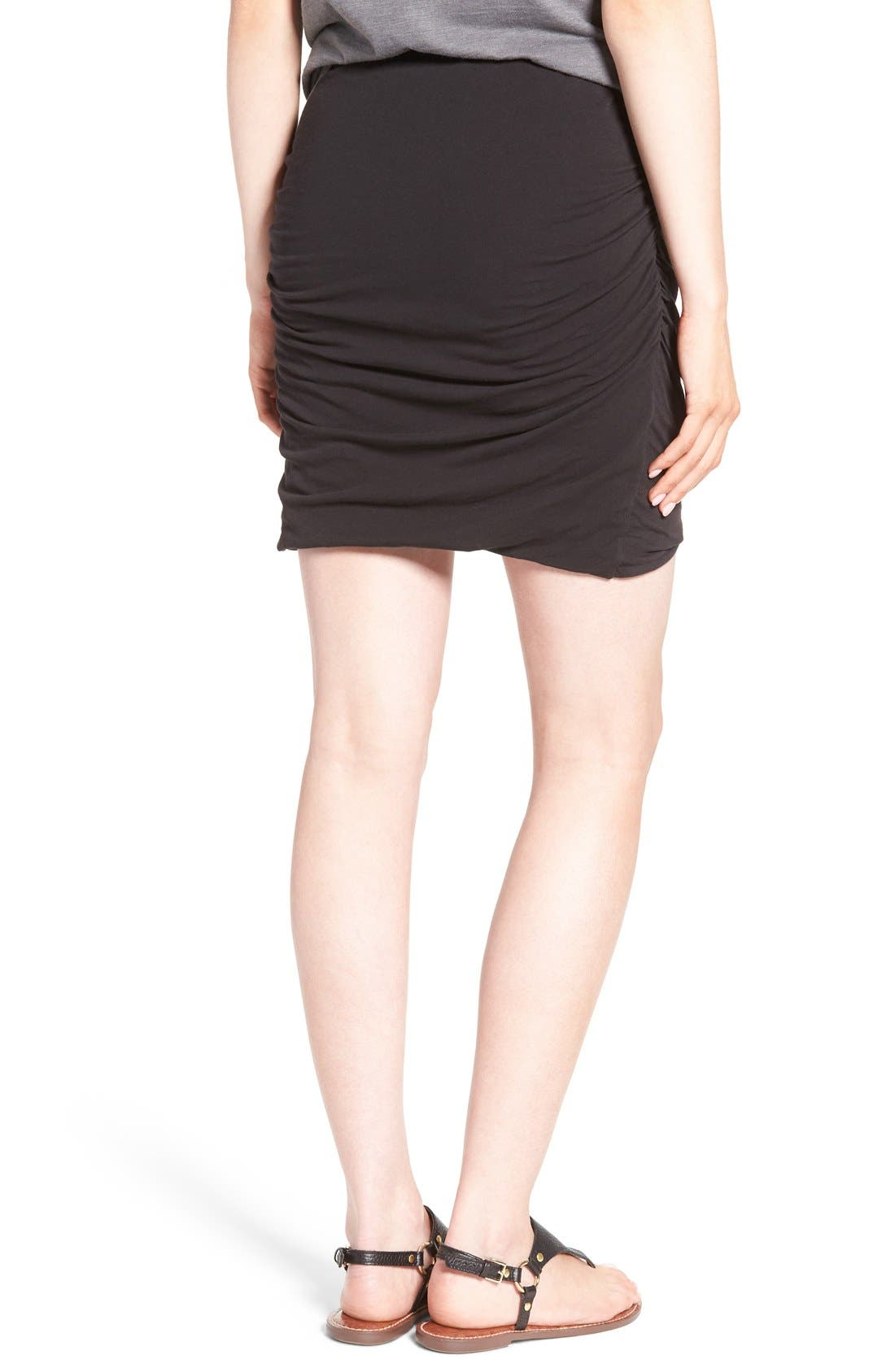 Ruched Surplice Skirt,                             Alternate thumbnail 4, color,