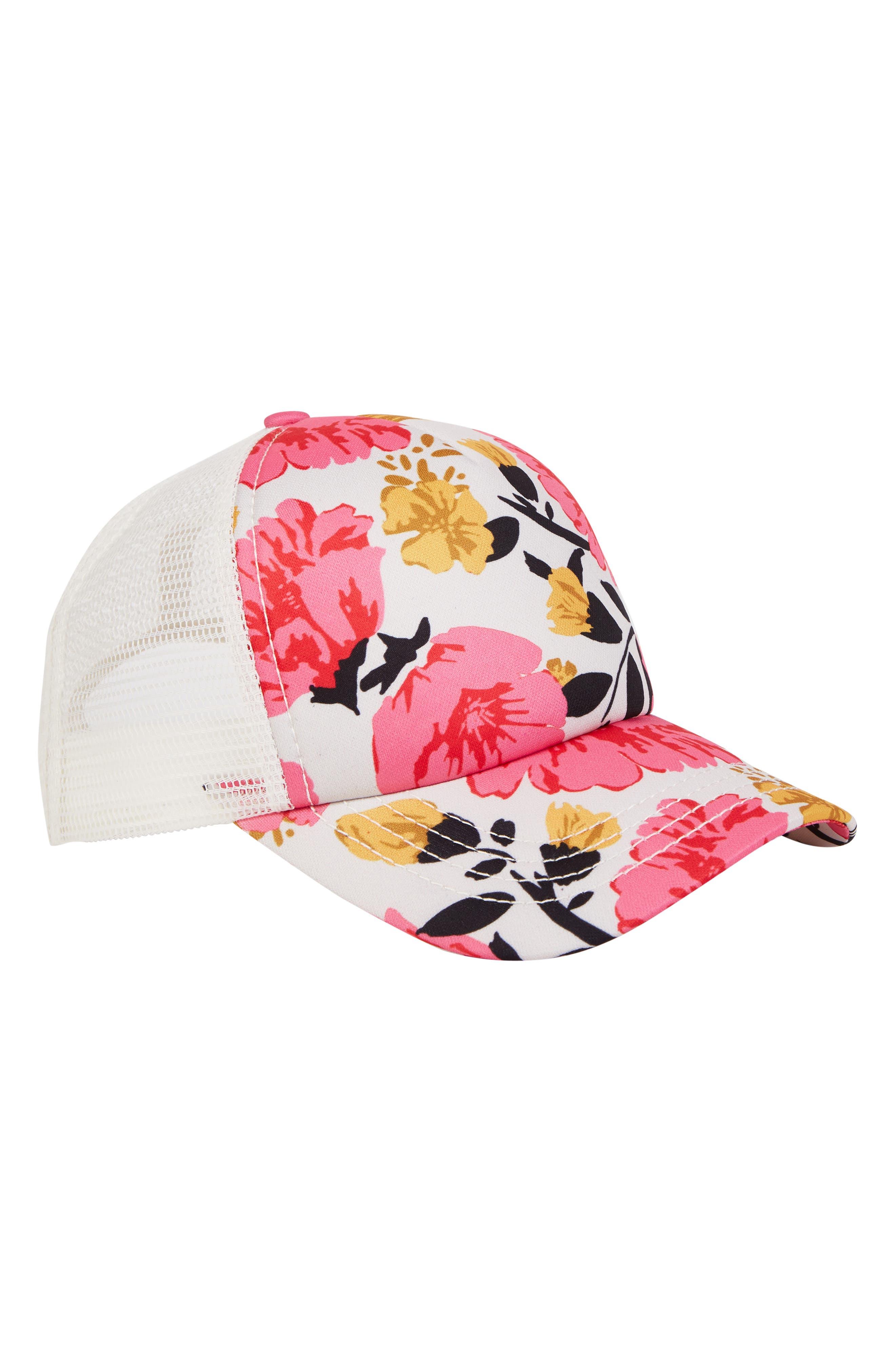 Shenanigans Trucker Hat,                             Alternate thumbnail 3, color,                             TPK-TAHITI PINK