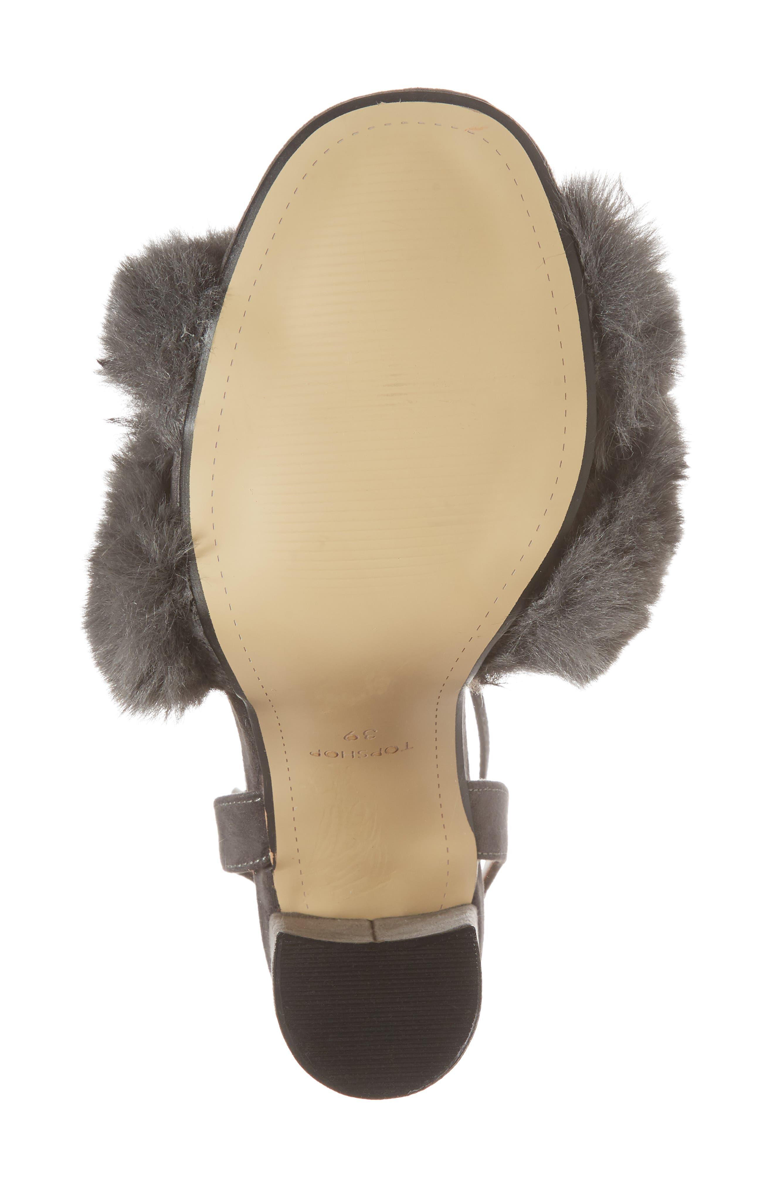 Sassy Faux Fur Sandal,                             Alternate thumbnail 17, color,