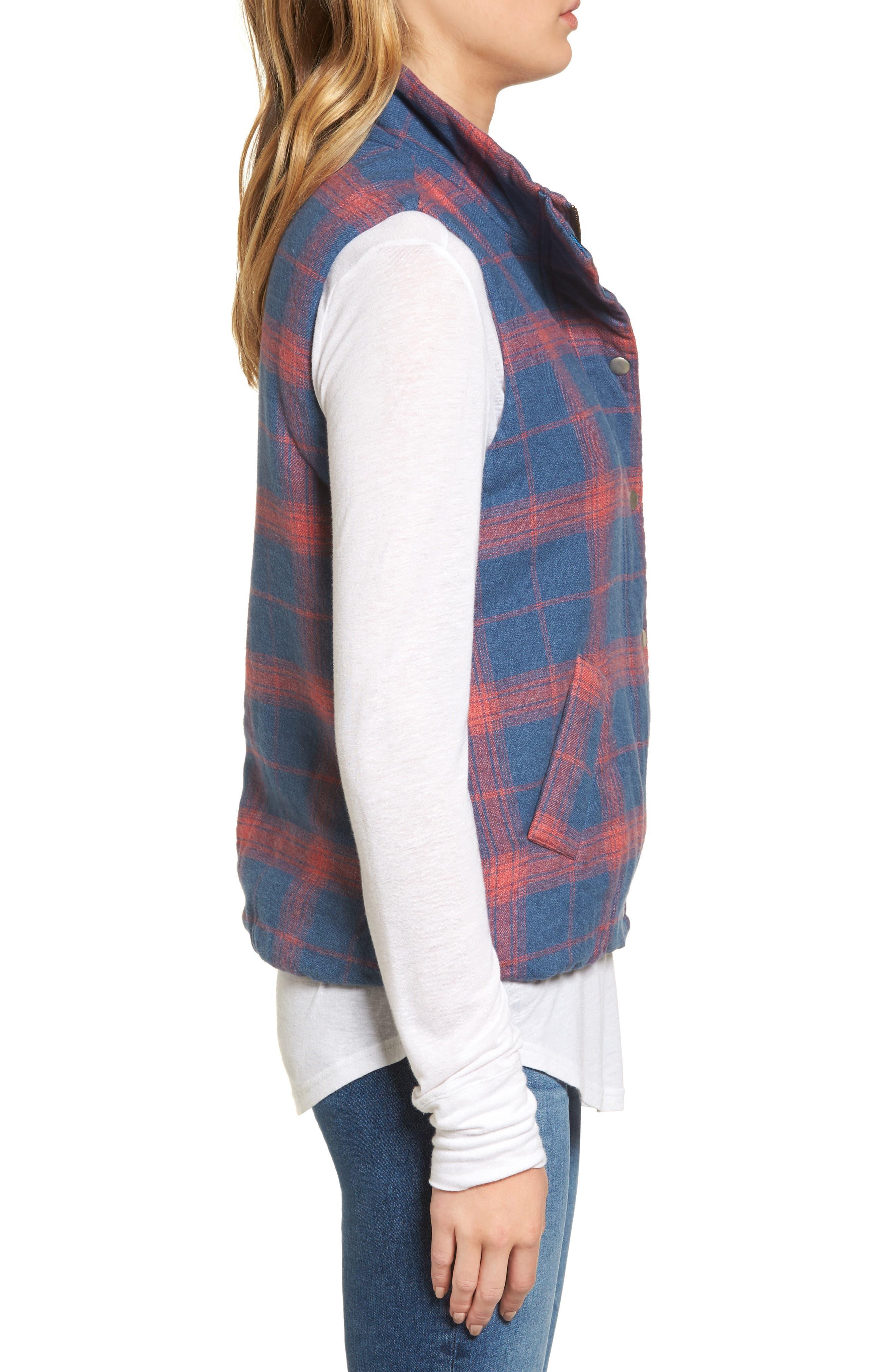 Plaid Flannel Vest,                             Alternate thumbnail 3, color,