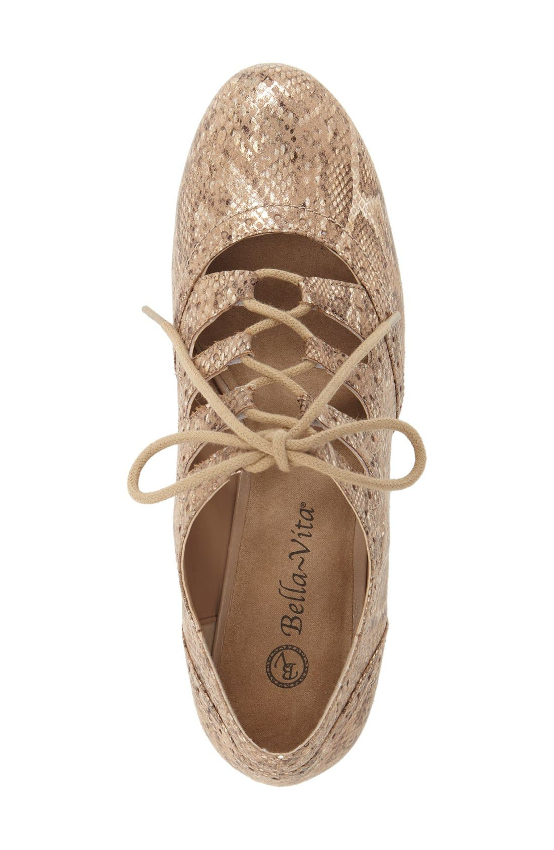 Posie Ghillie Oxford,                             Alternate thumbnail 3, color,                             CHAMPAGNE METALLIC SNAKE