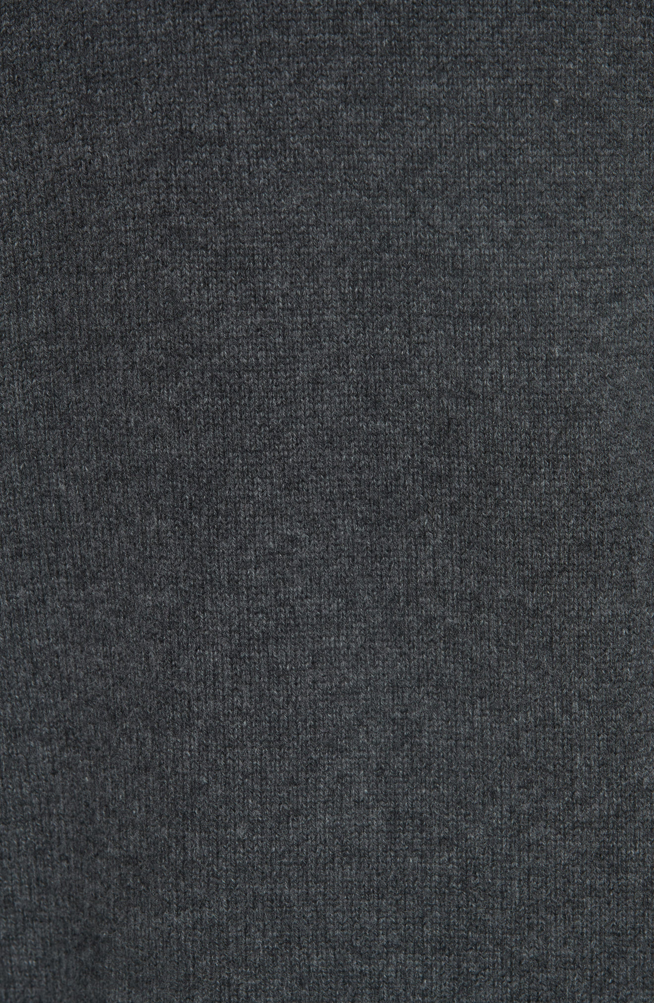 Cashmere Drop Shoulder Turtleneck Sweater,                             Alternate thumbnail 5, color,                             HEATHER BOULDER
