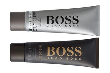 BOSS men's fragrance gift with purchase.
