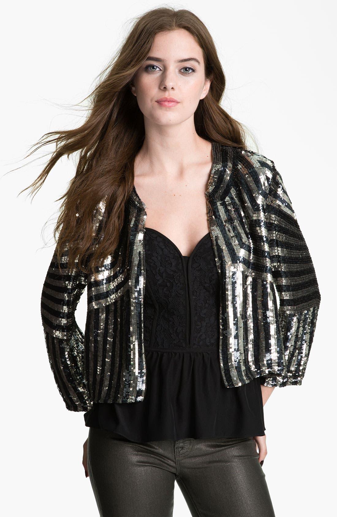 PARKER,                             Sequin Jacket,                             Main thumbnail 1, color,                             410