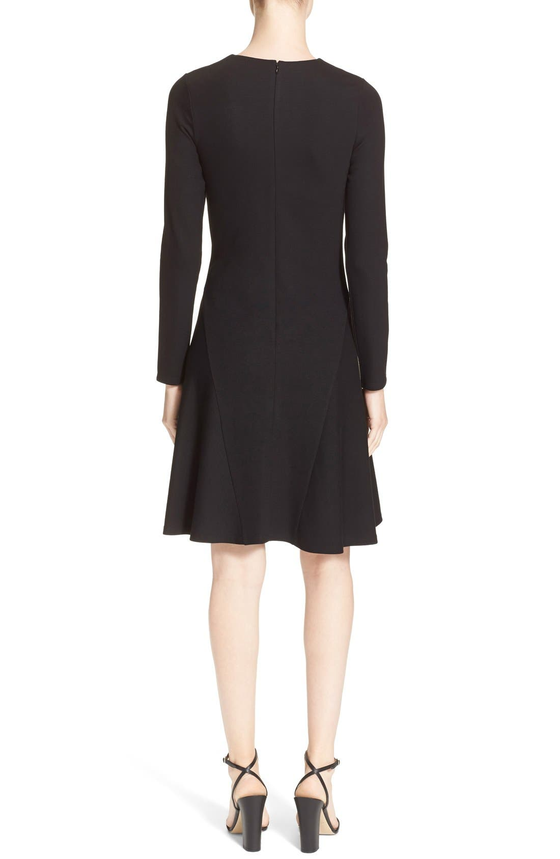 'Mloyd' Stretch Jersey Fit & Flare Dress,                             Alternate thumbnail 5, color,                             001