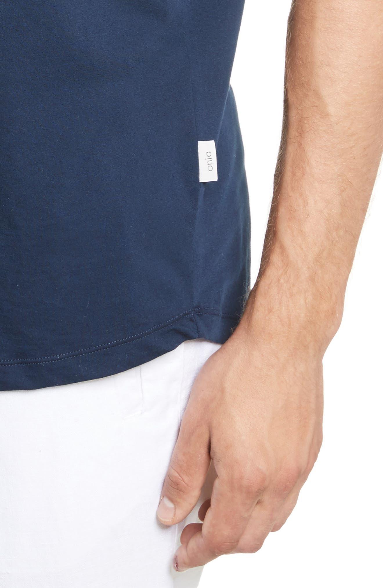 Joey V-Neck T-shirt,                             Alternate thumbnail 4, color,                             419