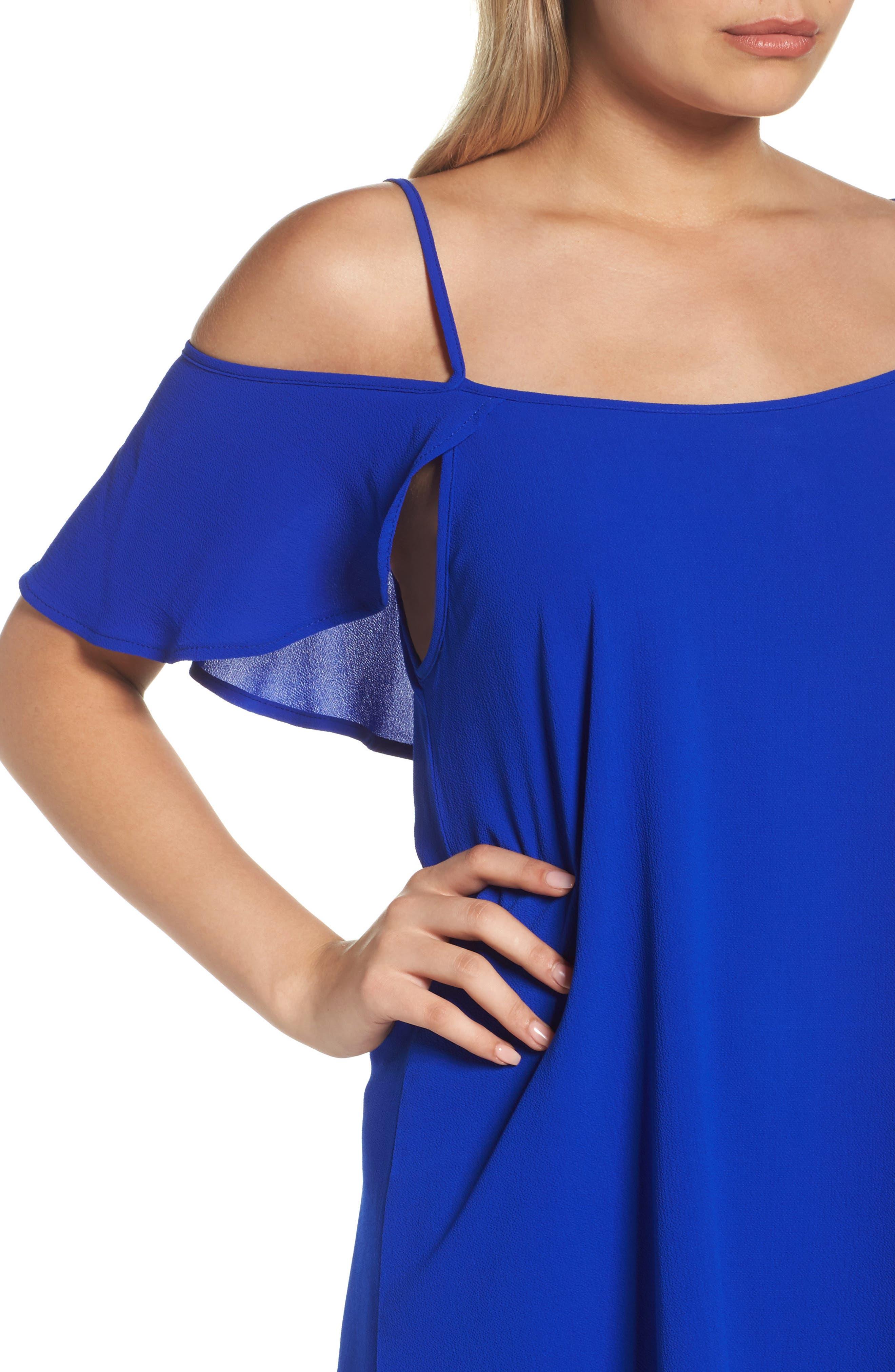 Cold Shoulder Swing Dress,                             Alternate thumbnail 4, color,                             431
