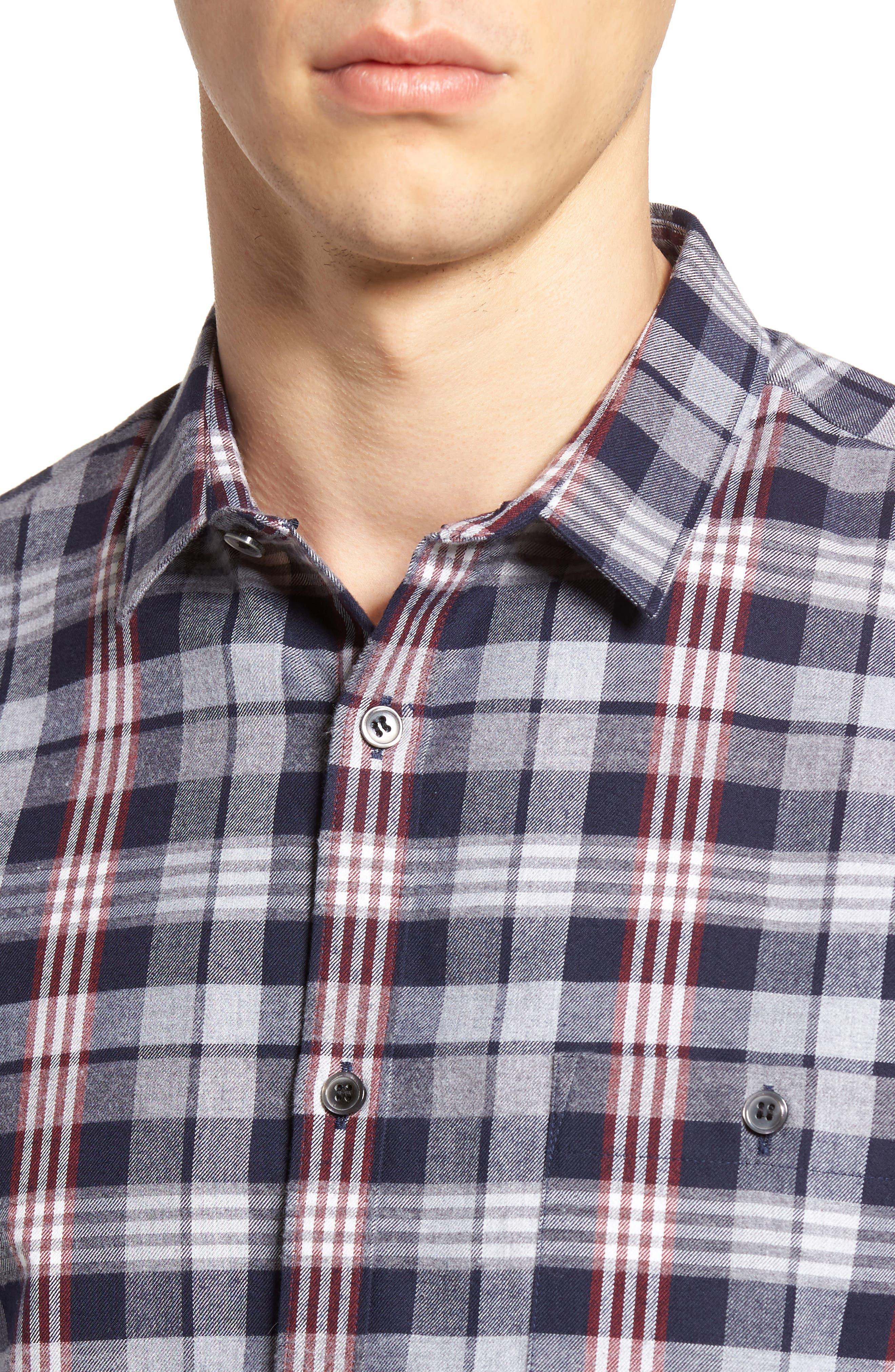Check Twill Shirt,                             Alternate thumbnail 4, color,                             409