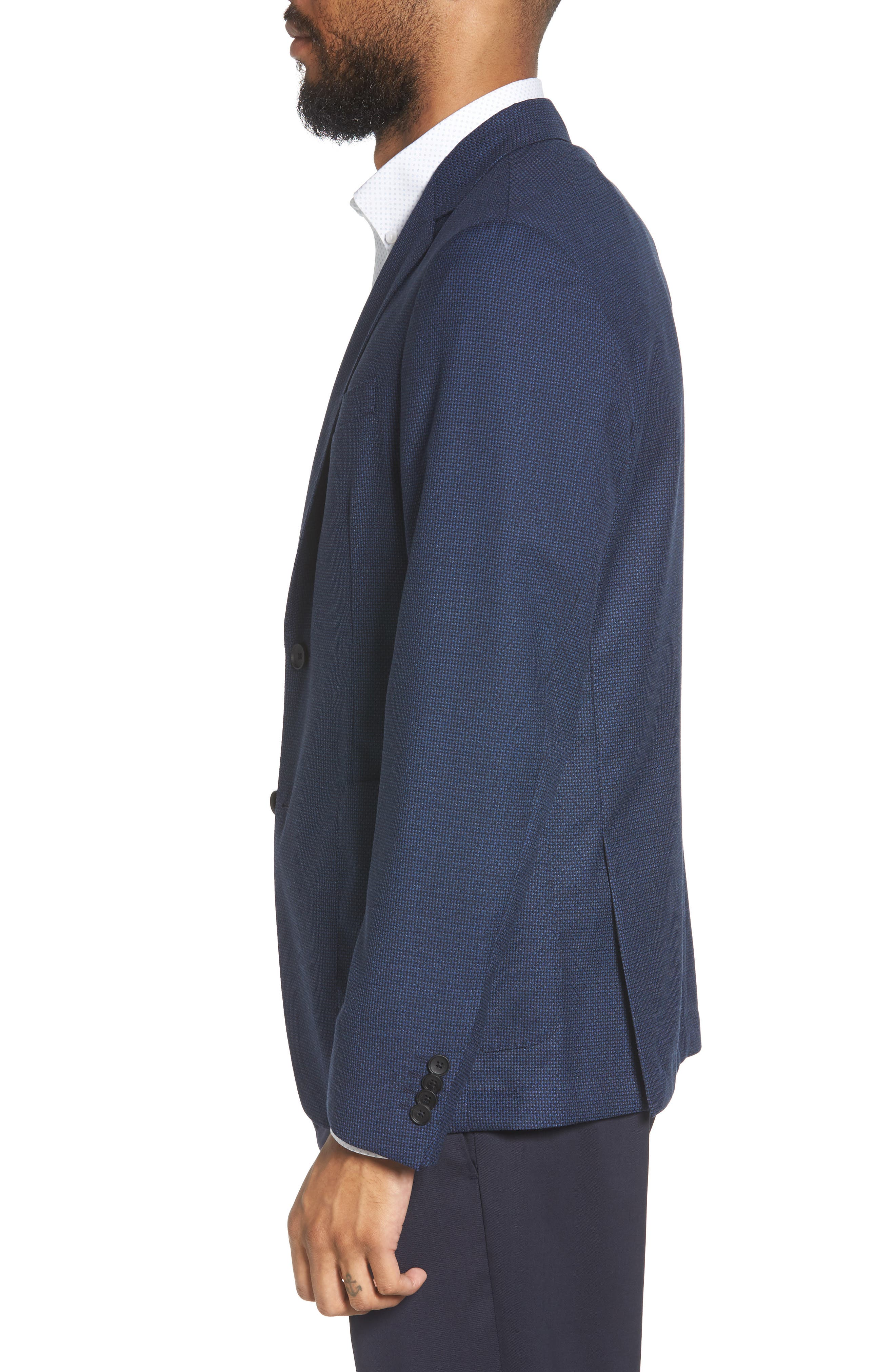 Nold Trim Fit Wool Blazer,                             Alternate thumbnail 3, color,                             BLUE