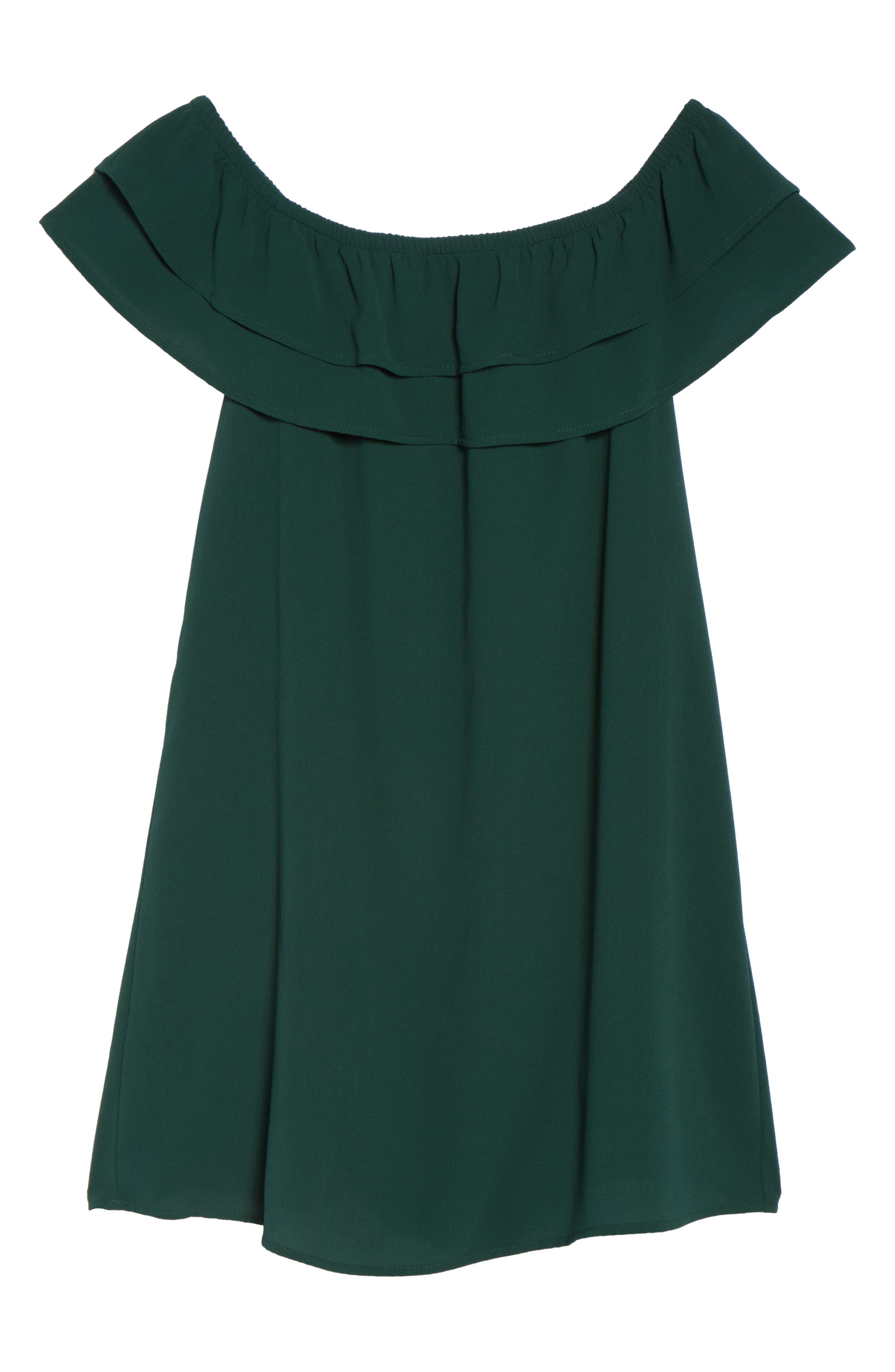 Off the Shoulder Ruffle Dress,                             Alternate thumbnail 6, color,                             301