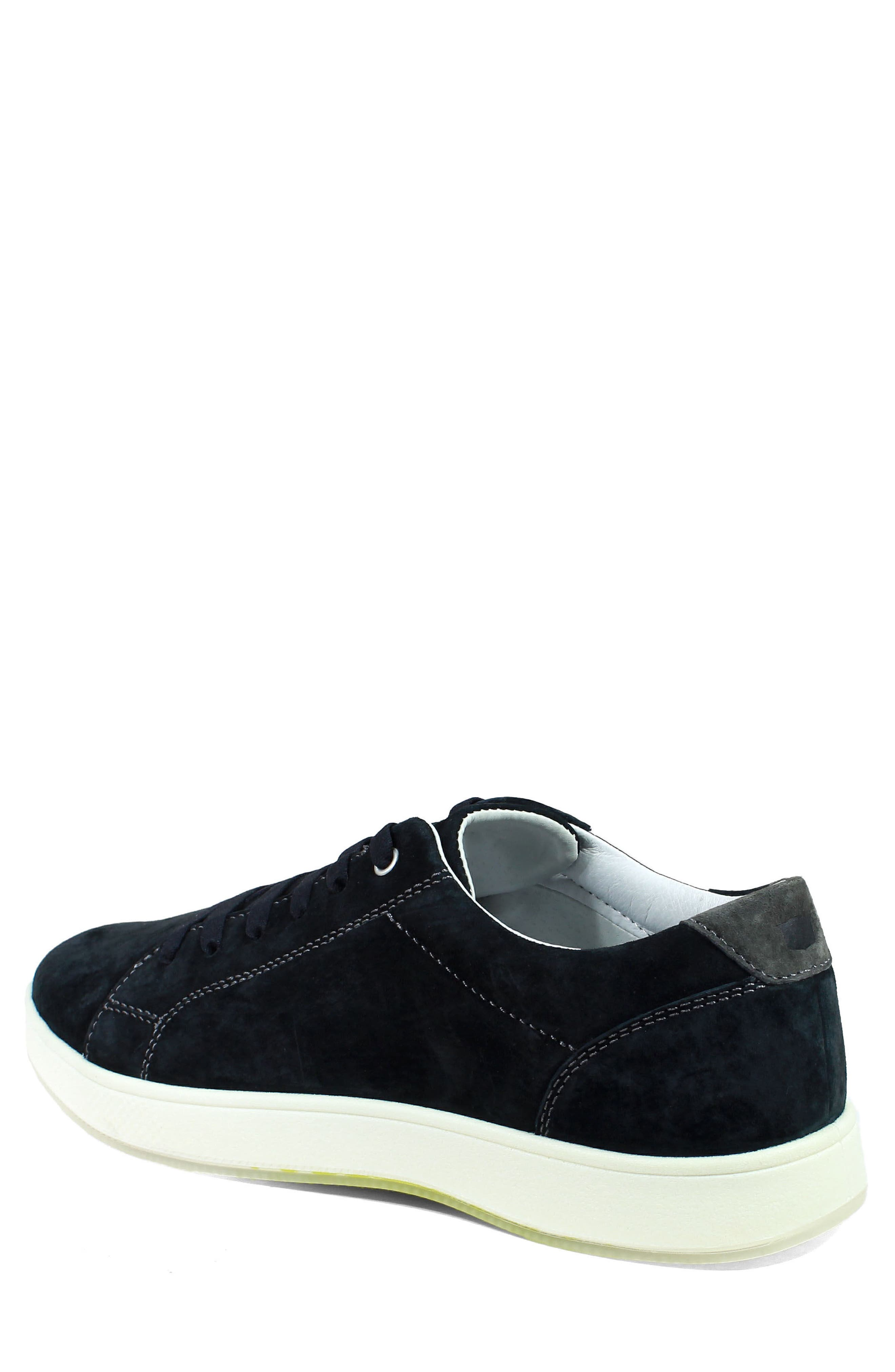 Edge Low Top Sneaker,                             Alternate thumbnail 2, color,                             BLACK NUBUCK