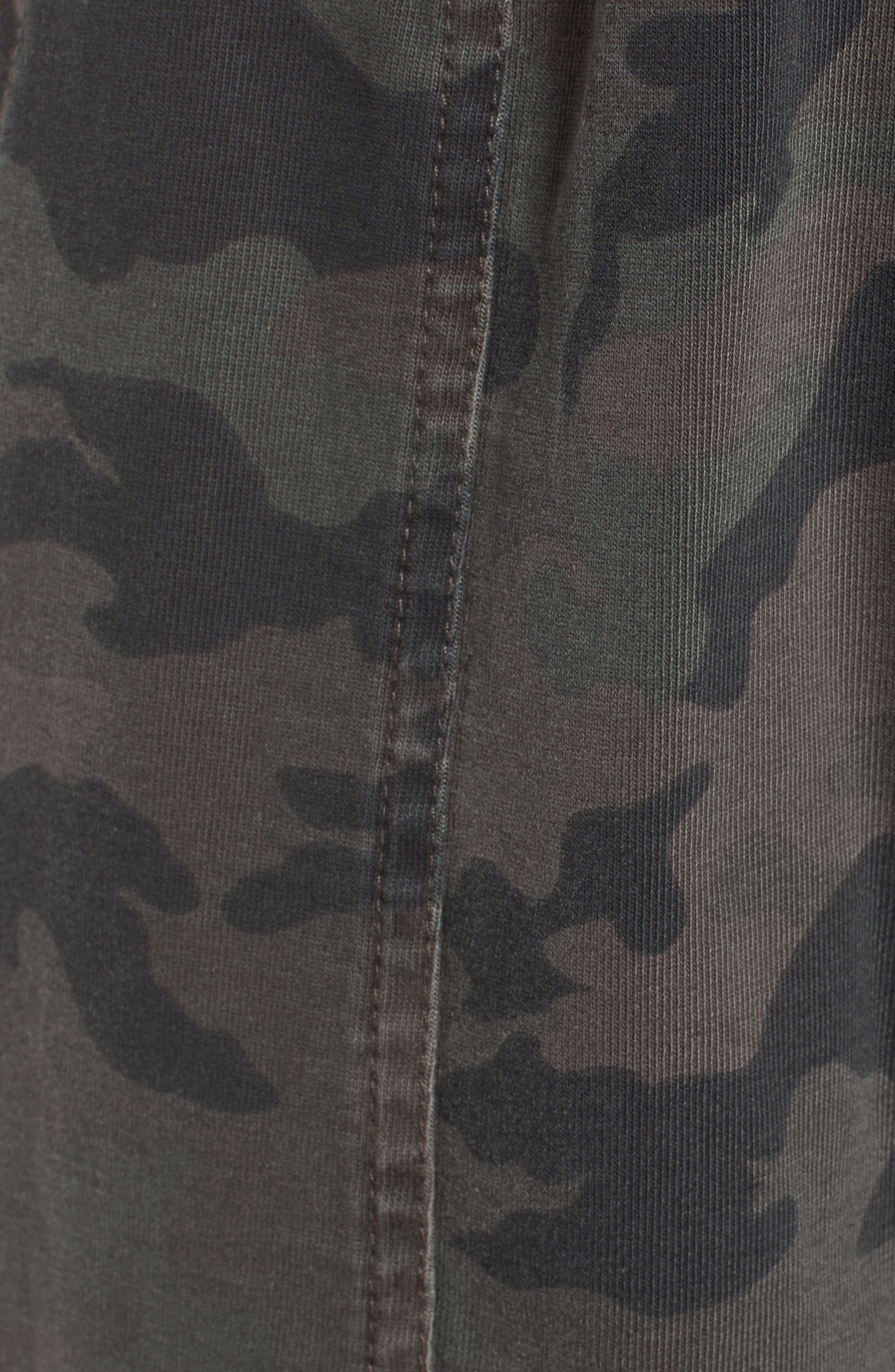 Contrast Waist Camo Jogger Pants,                             Alternate thumbnail 6, color,                             005