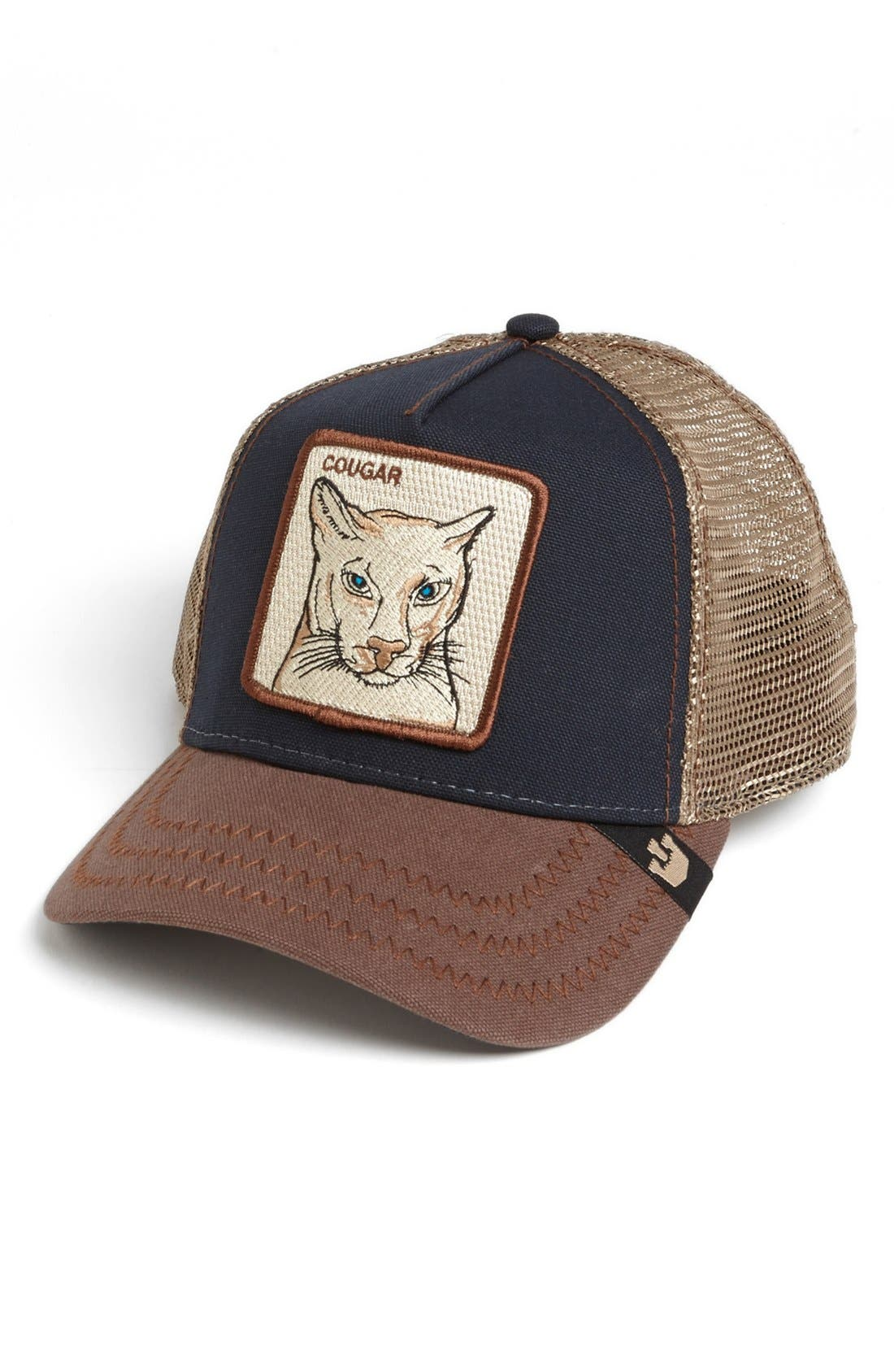 'Animal Farm - Cougar' Trucker Hat,                             Main thumbnail 1, color,                             NAVY
