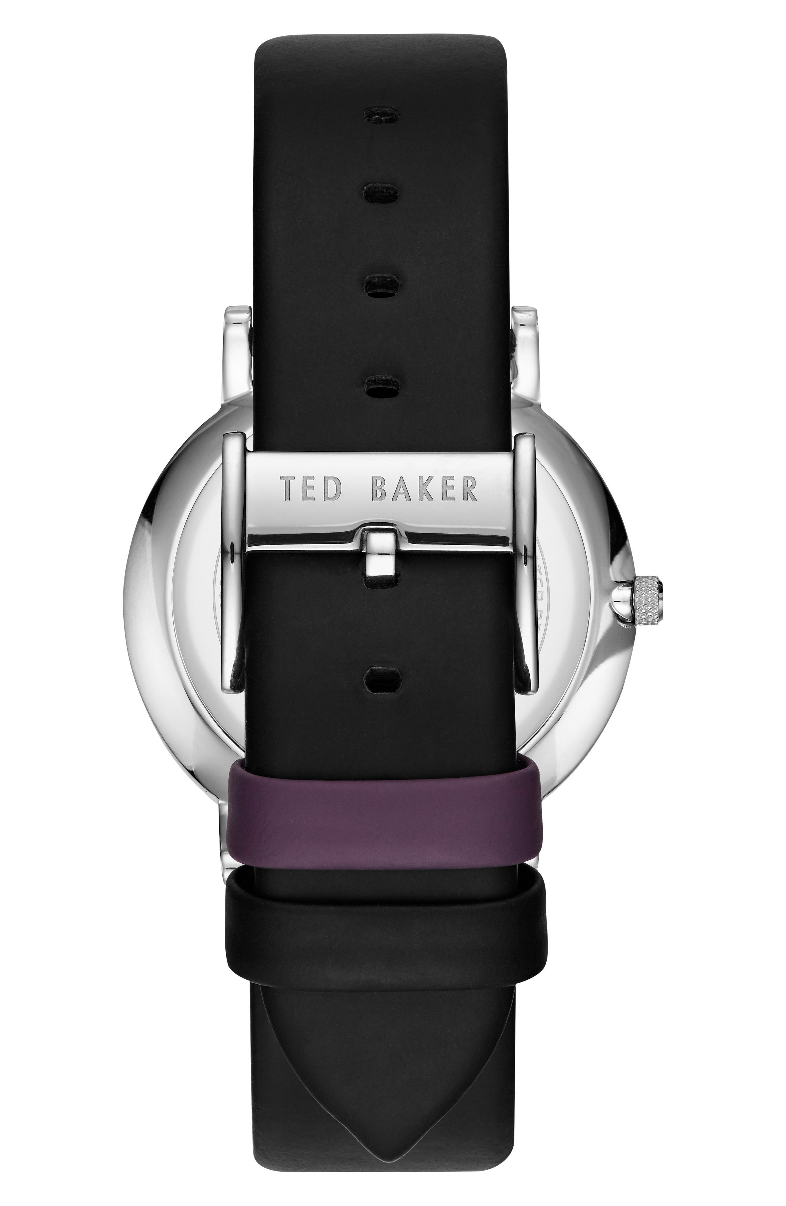 Samuel Slim Leather Strap Watch, 40mm,                             Alternate thumbnail 2, color,                             001