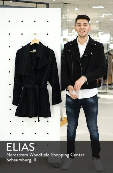 Stripe Blanket Coat, sales video thumbnail