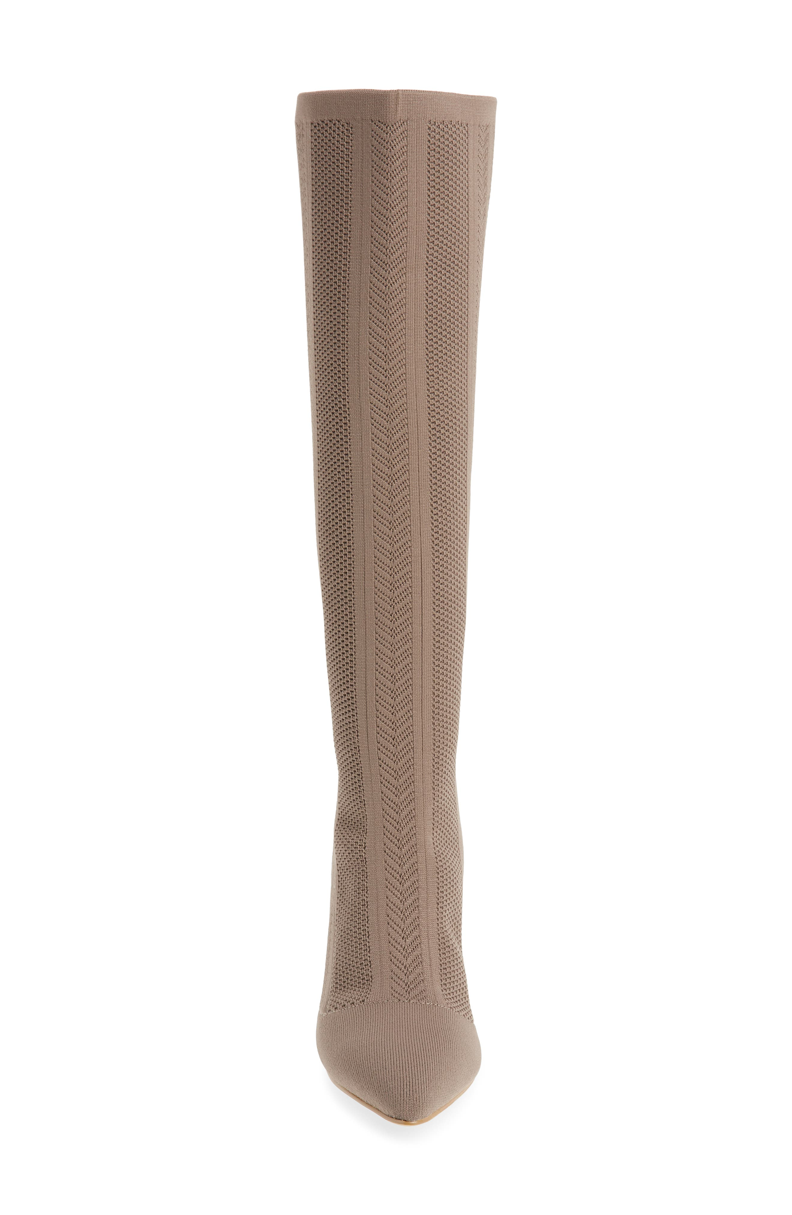 Davis Knit Boot,                             Alternate thumbnail 4, color,                             TAUPE FABRIC