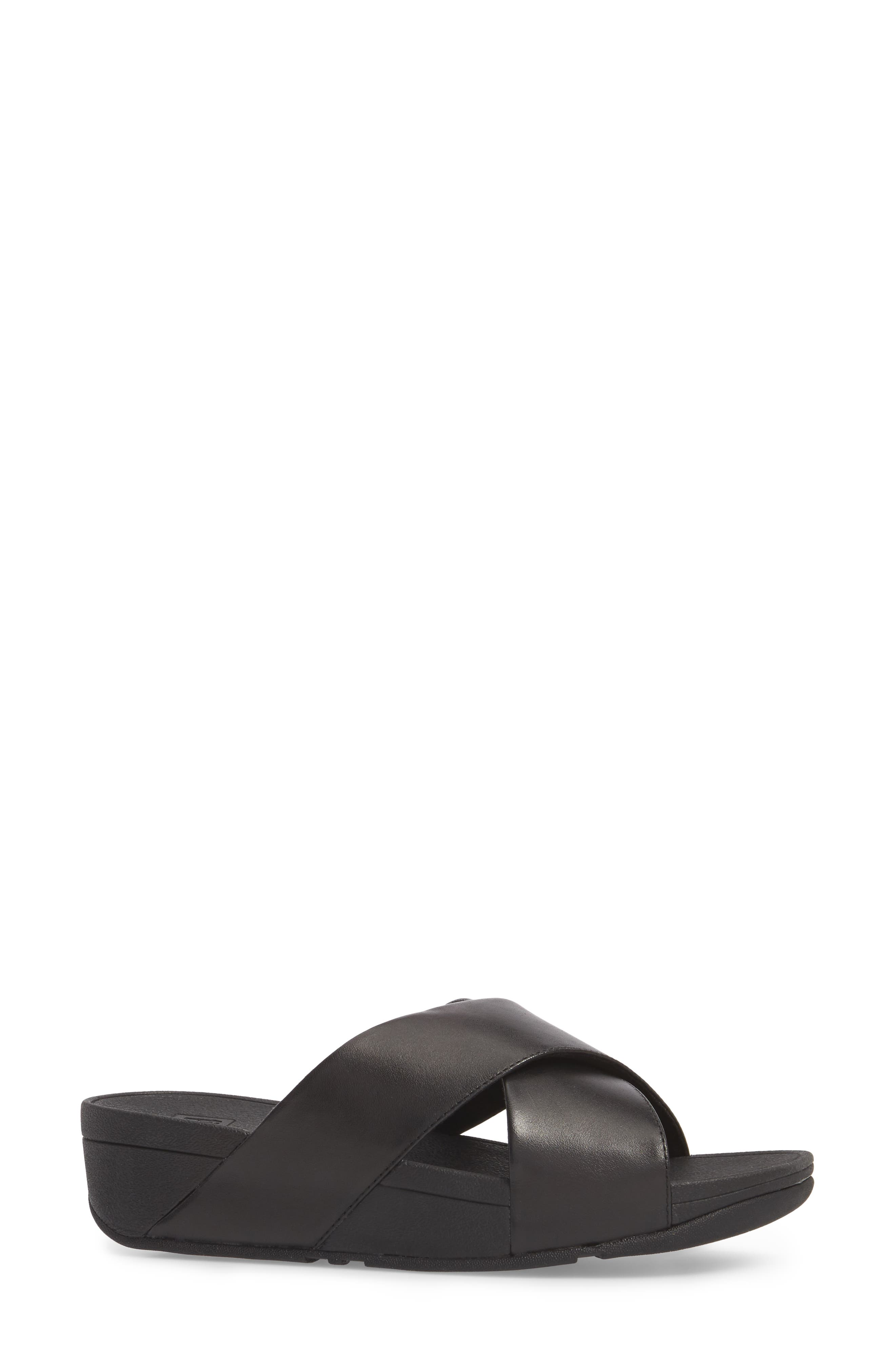 Lulu Cross Slide Sandal,                             Alternate thumbnail 3, color,                             001