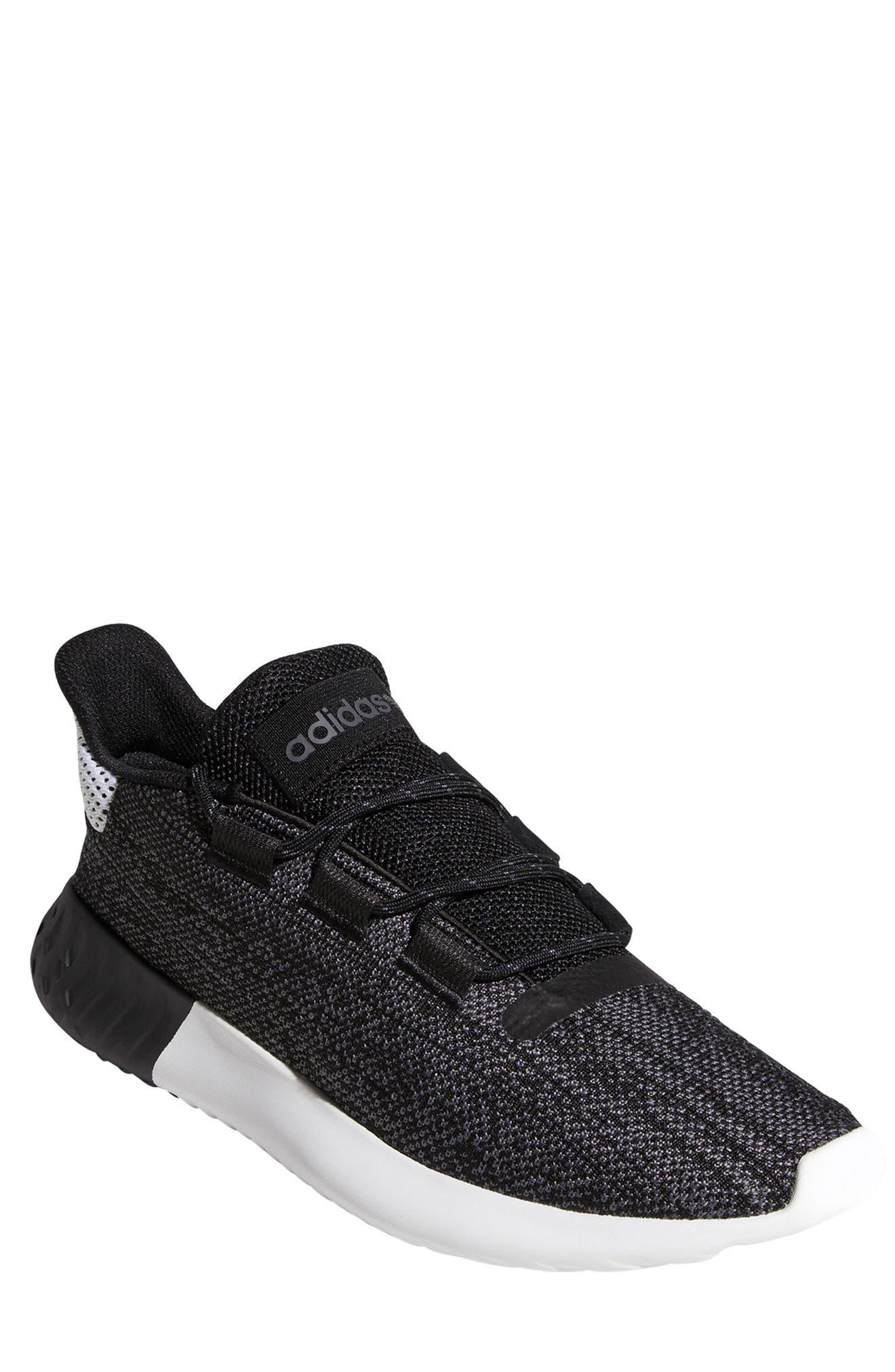 Tubular Dusk Primeknit Sneaker,                             Main thumbnail 1, color,                             WHITE/ BLACK/ GREY