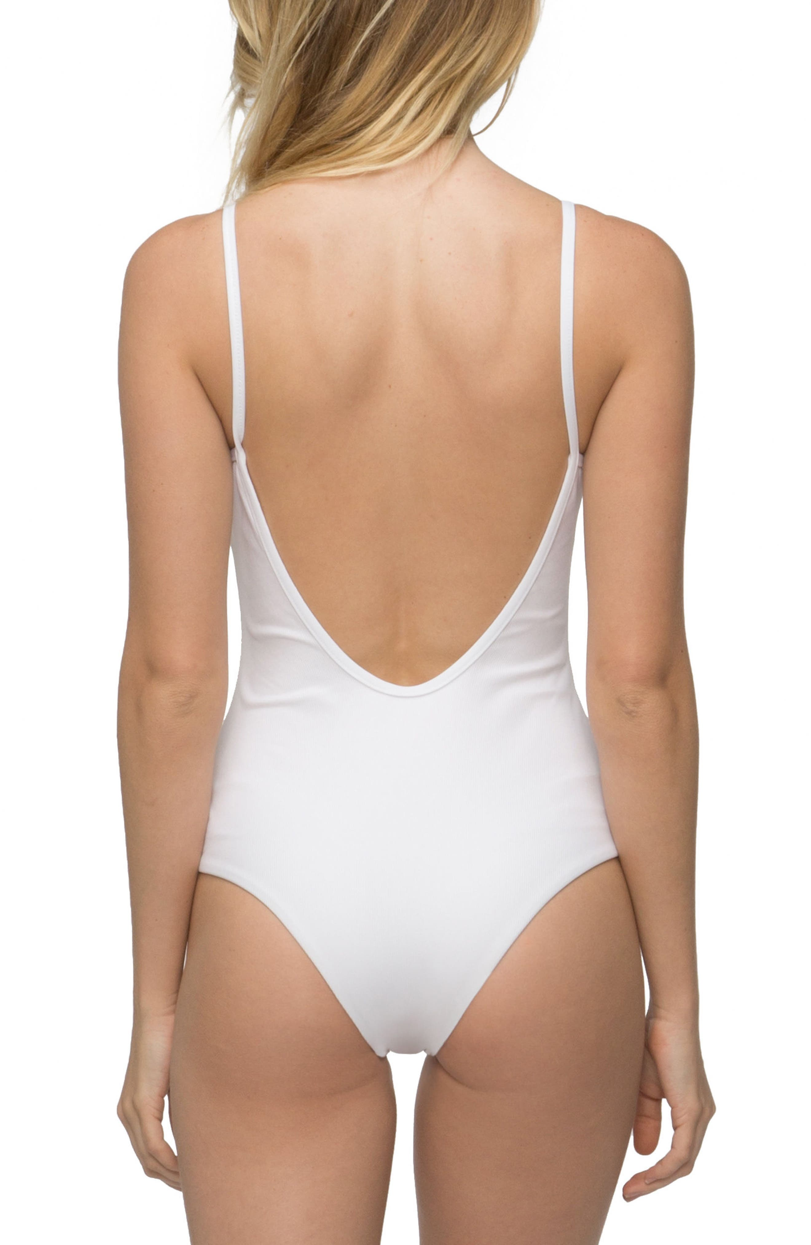 Lila Ribbed One-Piece Swimsuit,                             Alternate thumbnail 2, color,                             100