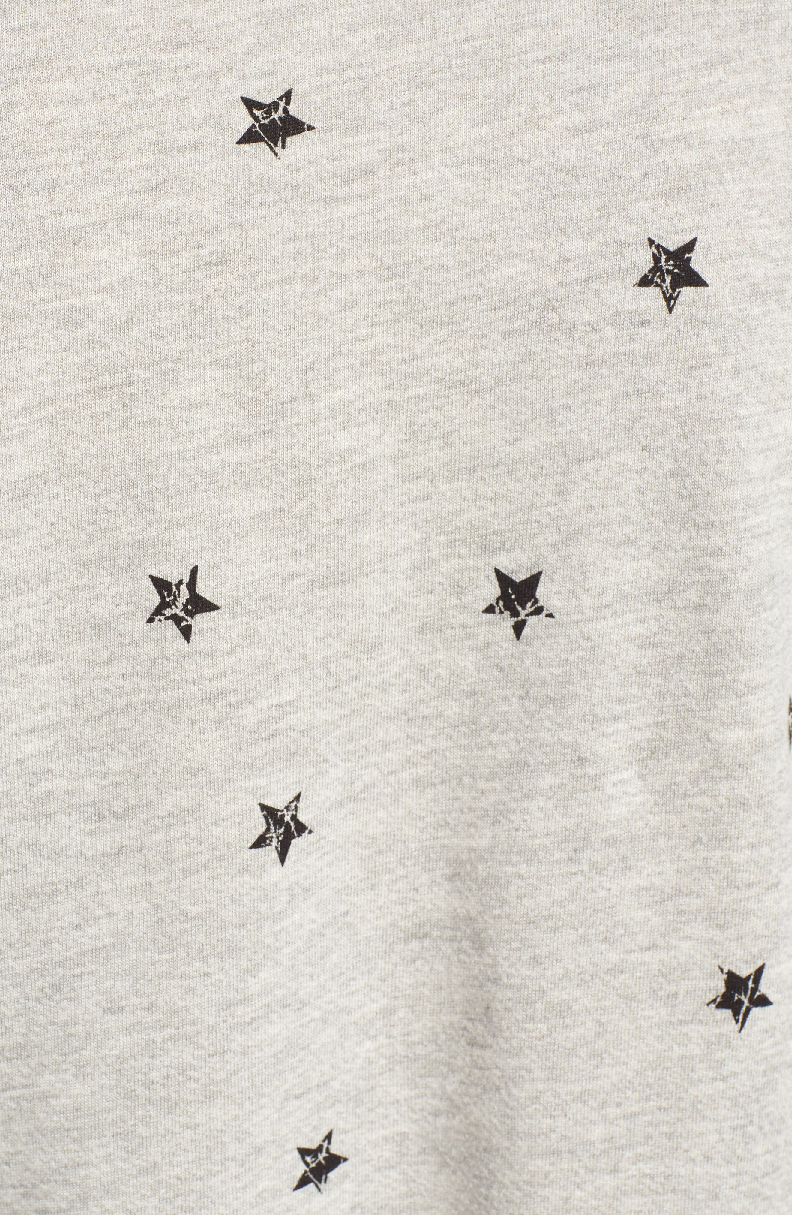 Star Print Sweatshirt,                             Alternate thumbnail 5, color,                             035