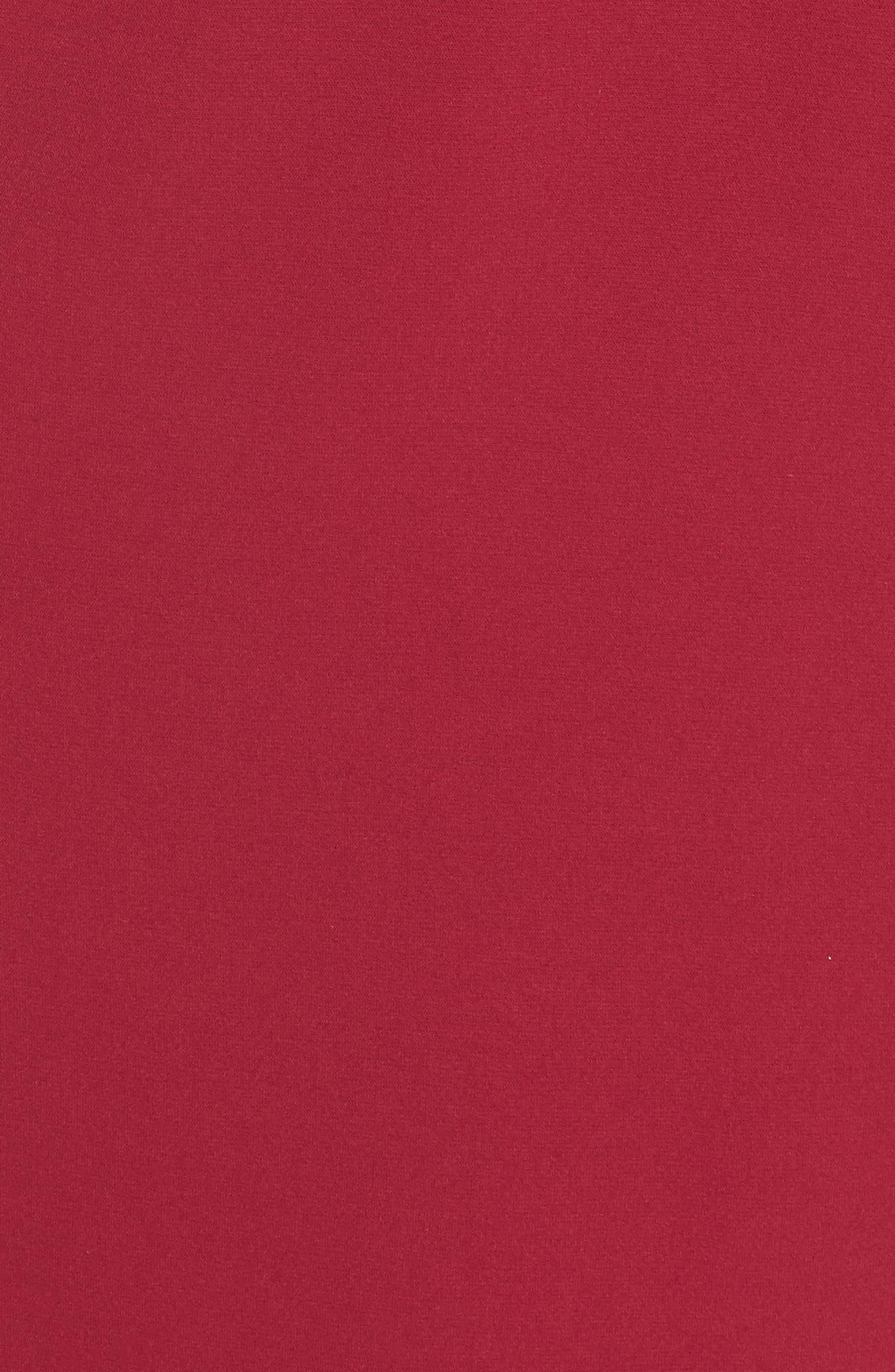 Colorblock Midi Dress,                             Alternate thumbnail 5, color,                             BLACK/ WINEBERRY