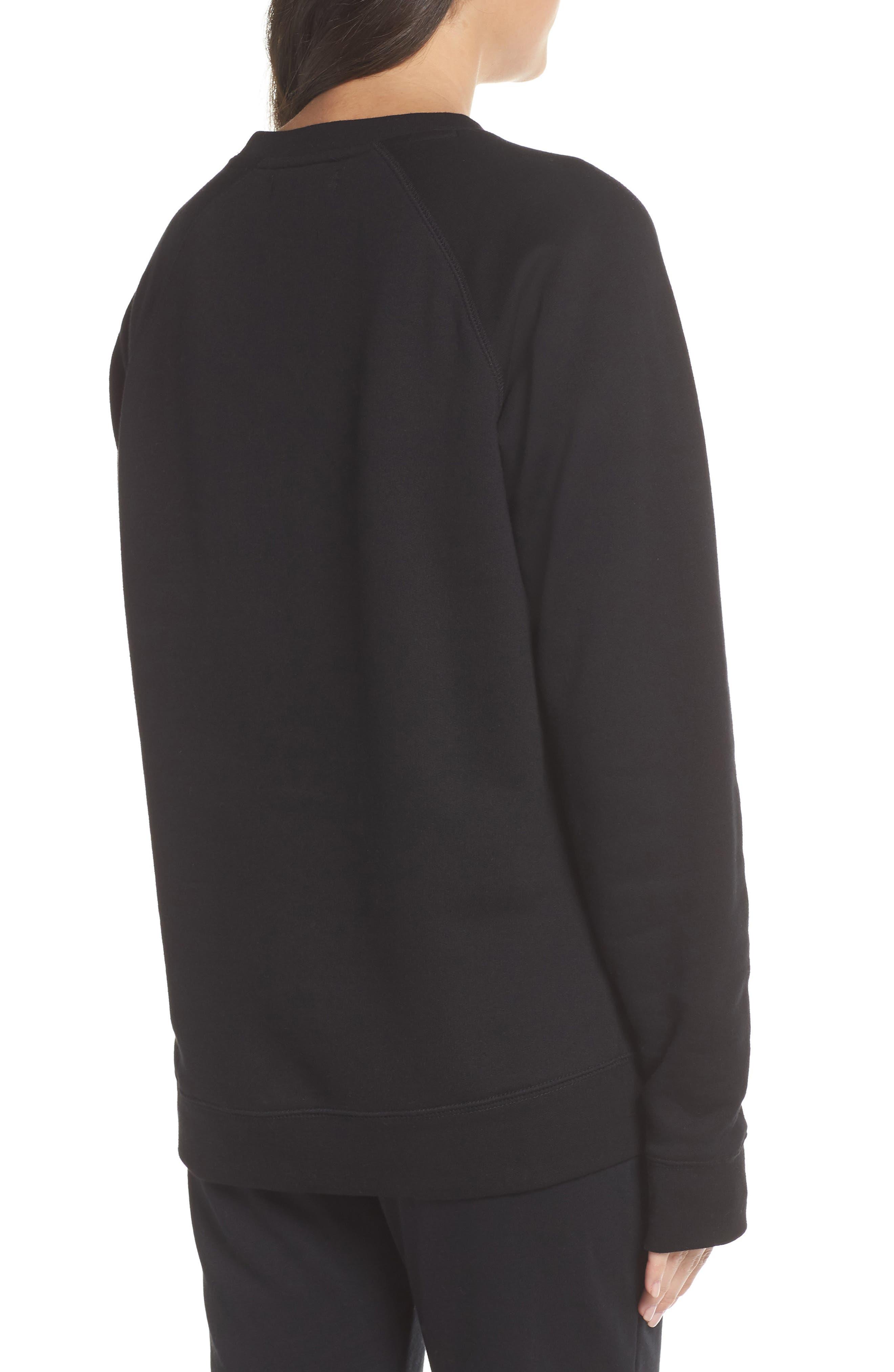 Rosé Okay Sweatshirt,                             Alternate thumbnail 2, color,                             BLACK