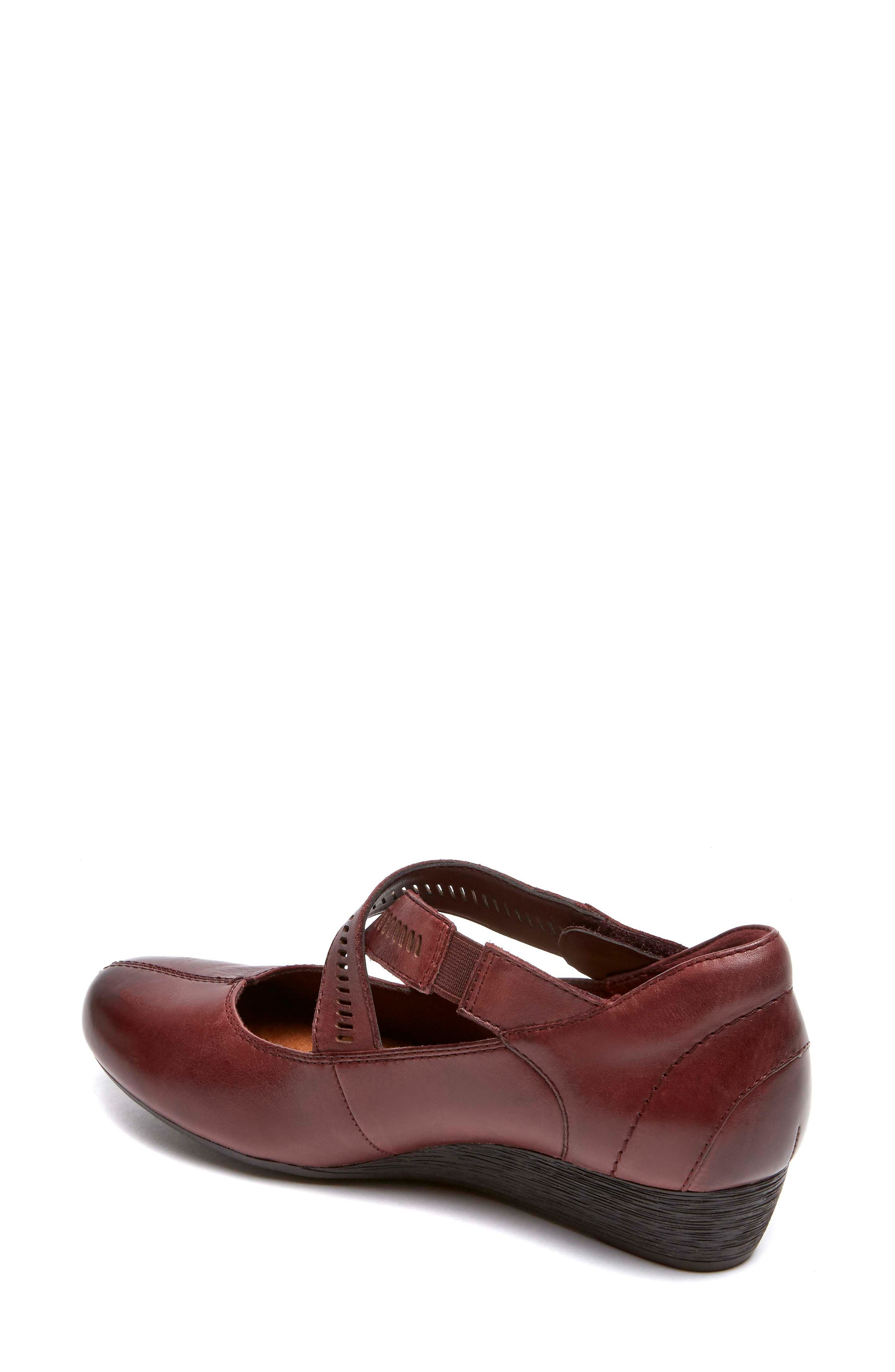 'Janet' Mary Jane Wedge,                             Alternate thumbnail 2, color,                             MERLOT LEATHER