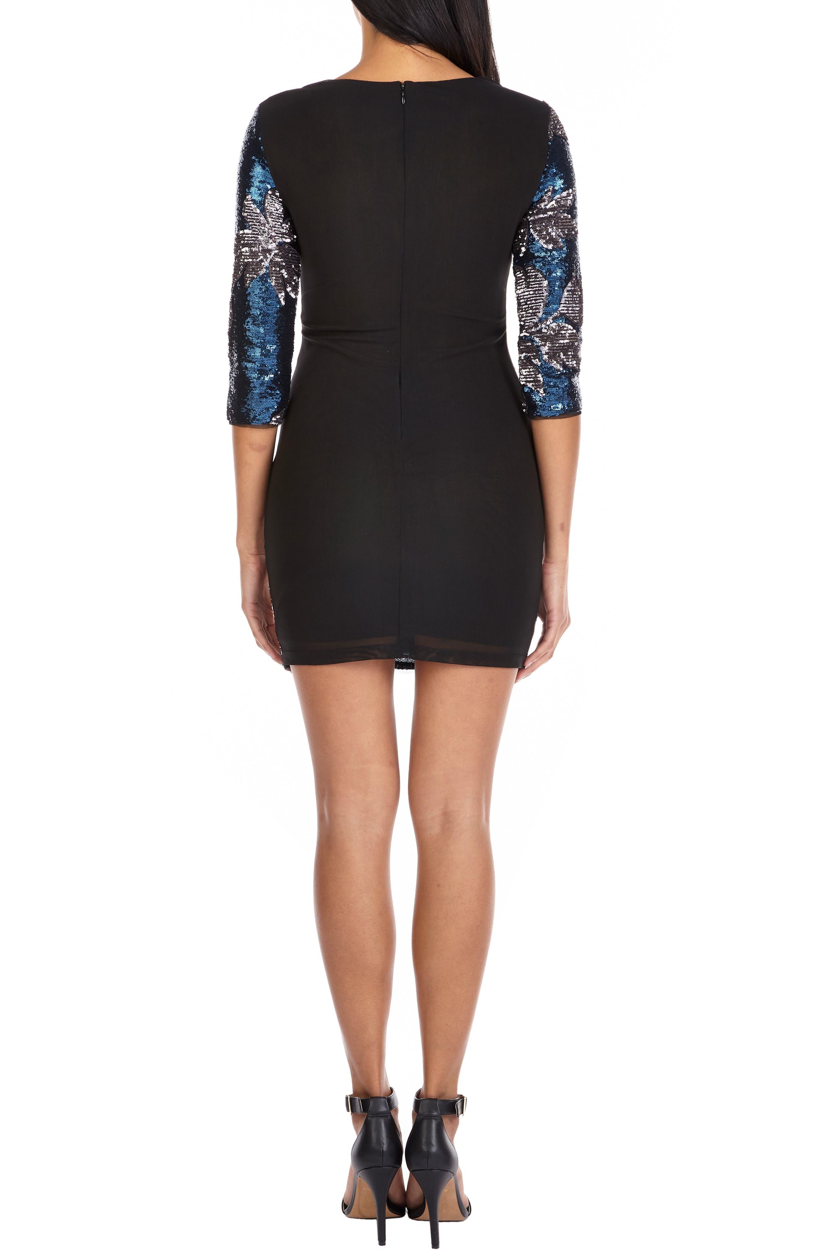 TFNC,                             Paris Basma Sequin Body-Con Dress,                             Alternate thumbnail 2, color,                             NAVY