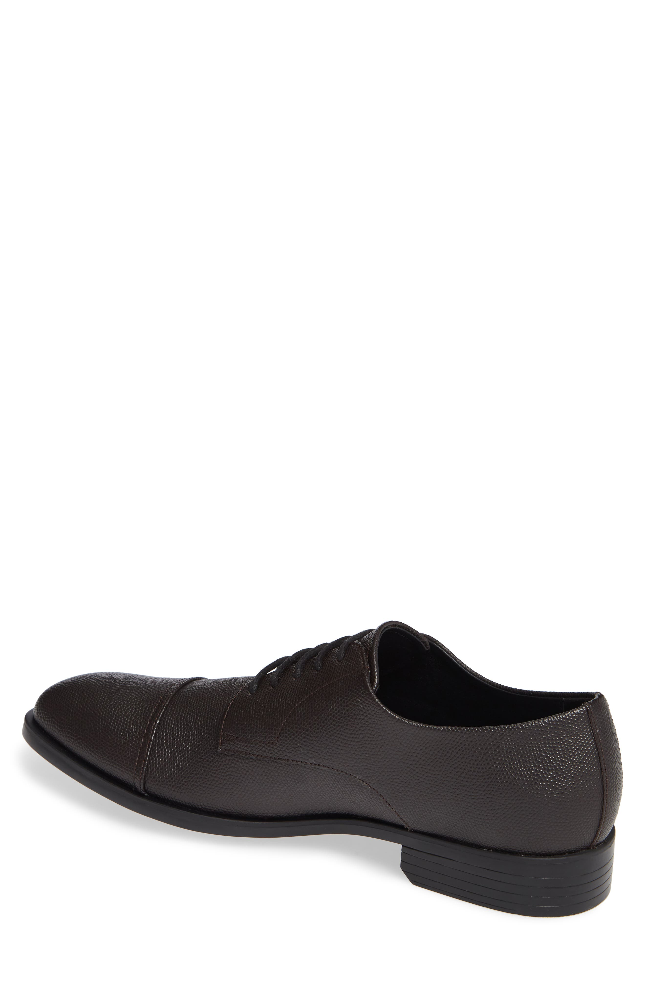 Connor Cap Toe Derby,                             Alternate thumbnail 2, color,                             DARK BROWN LEATHER