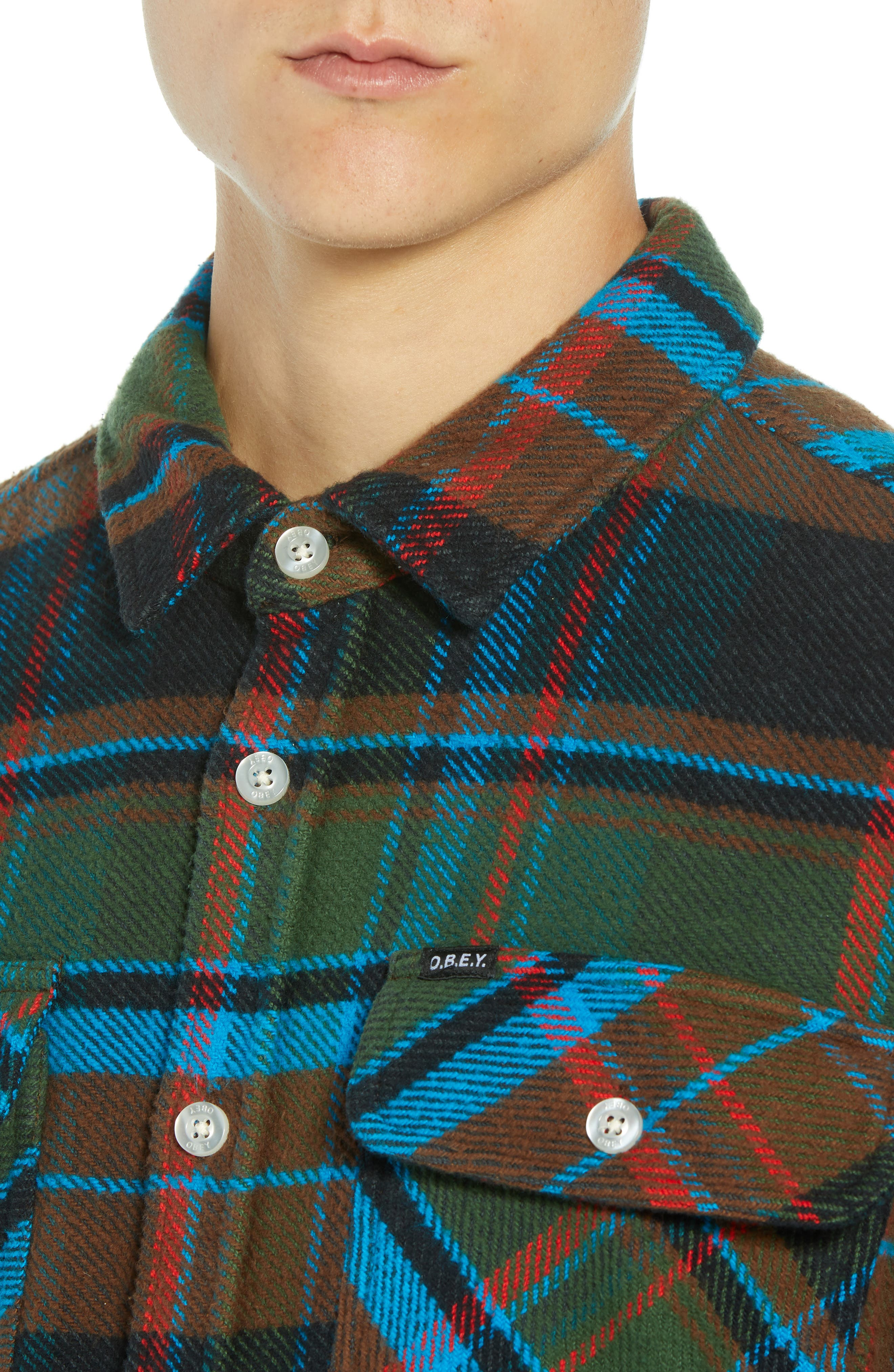Homebound Heavy Plaid Flannel Shirt Jacket,                             Alternate thumbnail 2, color,                             BLACK FORREST MULTI