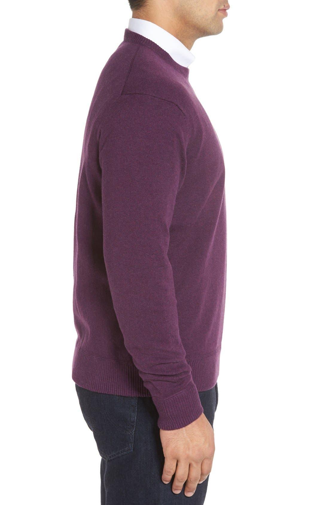 'Jersey Sport' Cotton Blend Crewneck Sweater,                             Alternate thumbnail 22, color,