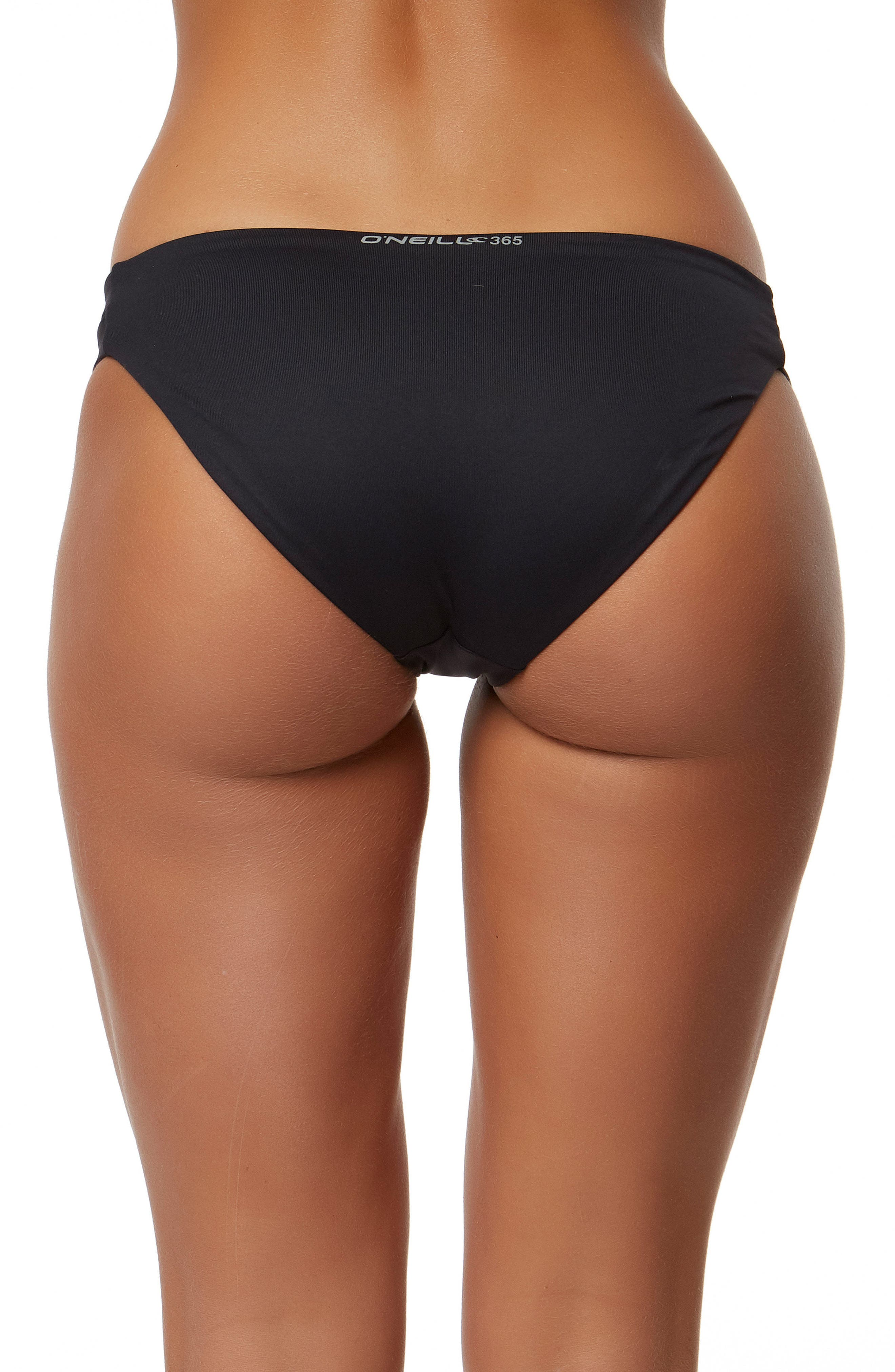 Elora Hybrid Bikini Bottoms,                             Alternate thumbnail 2, color,                             BLACK