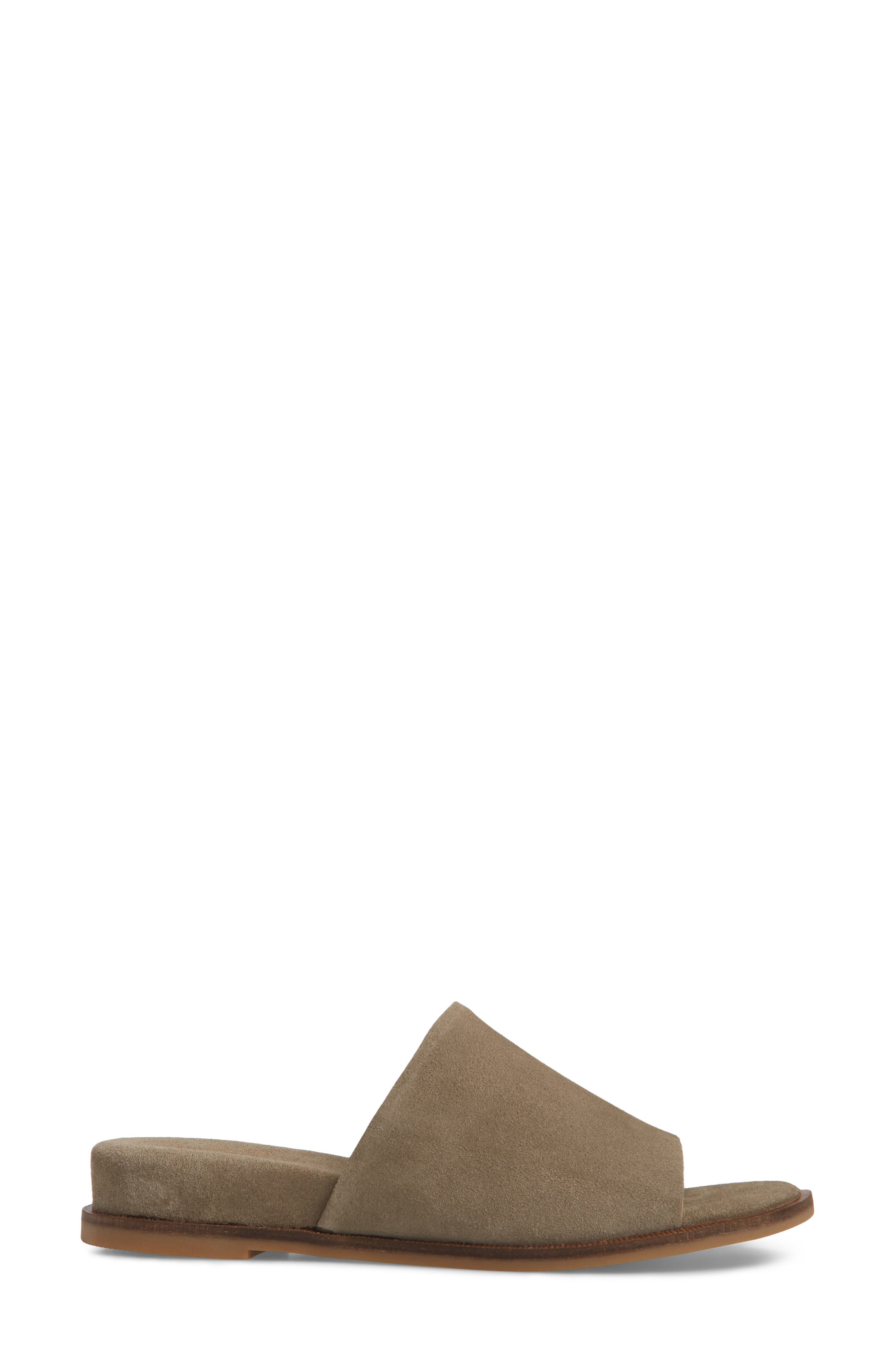 Relaxing Wedge Slide Sandal,                             Alternate thumbnail 3, color,                             TAUPE LEATHER