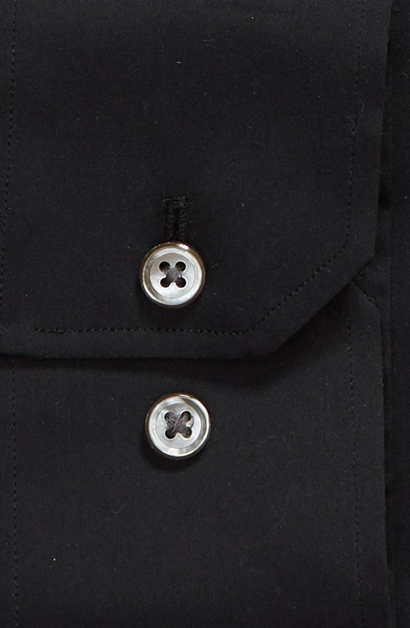 Jetsetter Slim Fit Solid Dress Shirt,                             Alternate thumbnail 6, color,                             BLACK
