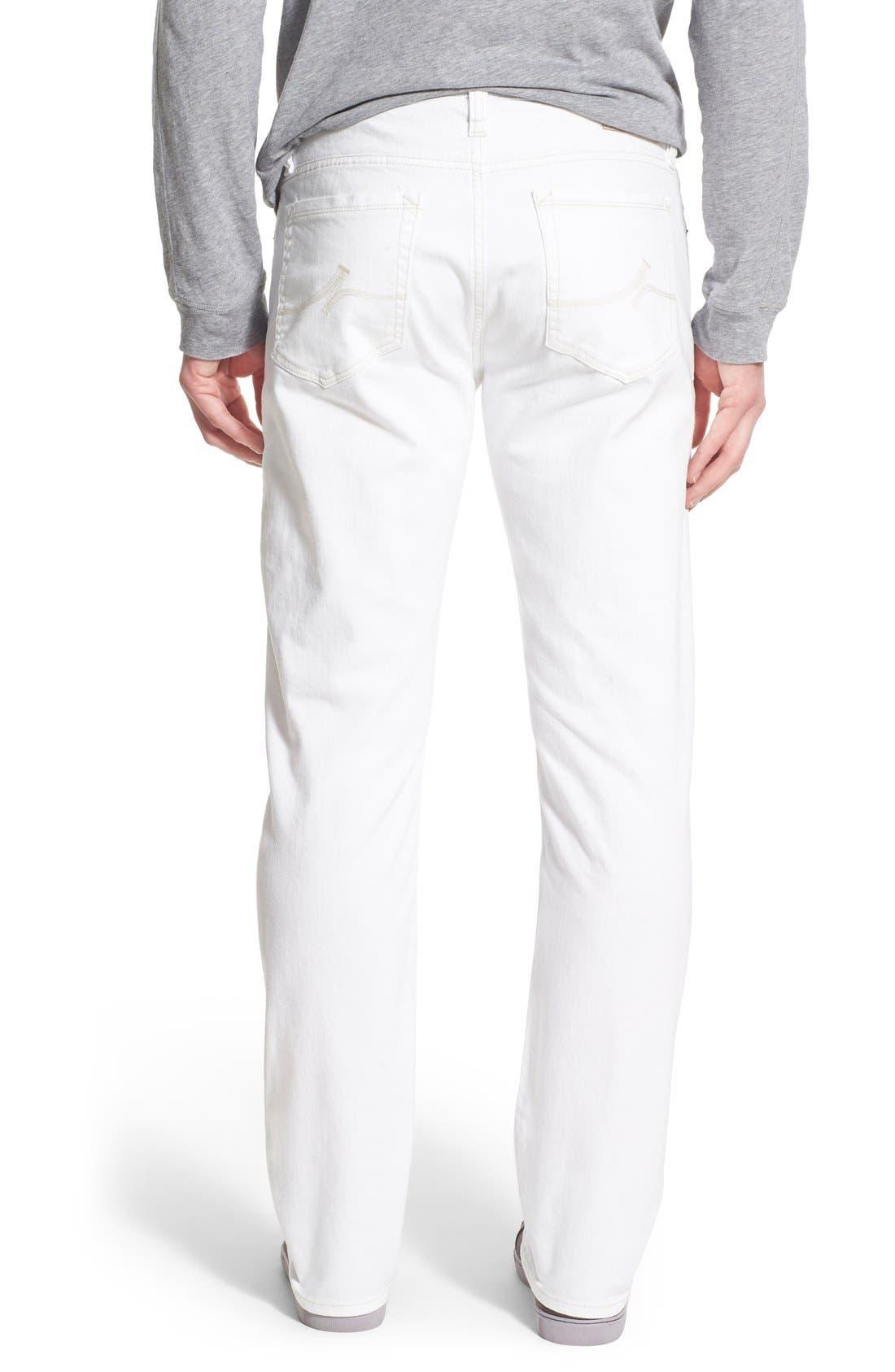 'Courage' Straight Leg Jeans,                             Alternate thumbnail 3, color,                             WHITE DENIM