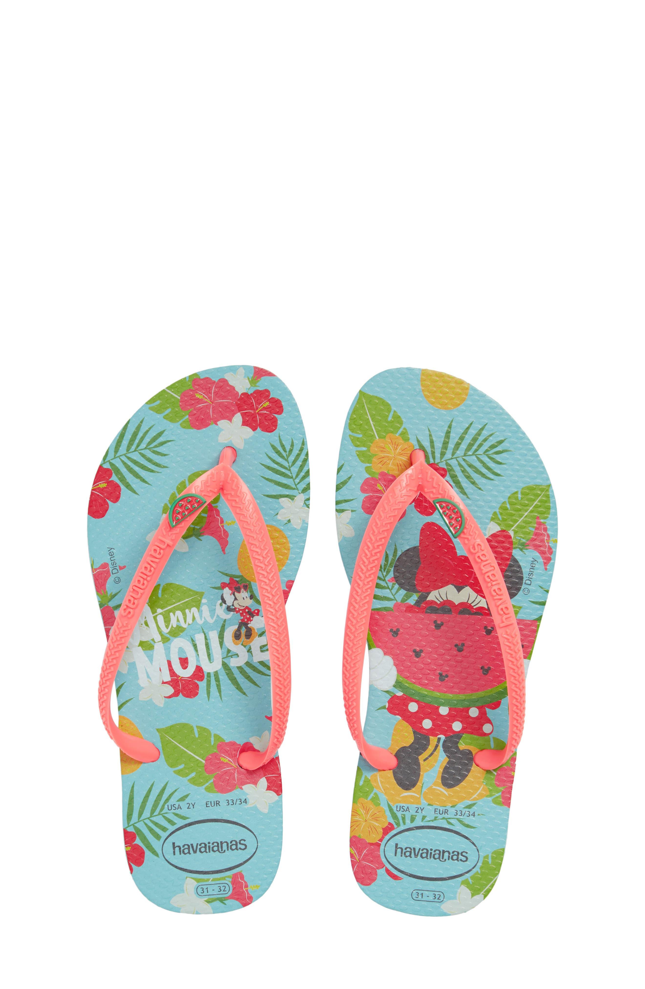 'Disney<sup>®</sup> Minnie Mouse' Flip Flop,                         Main,                         color,