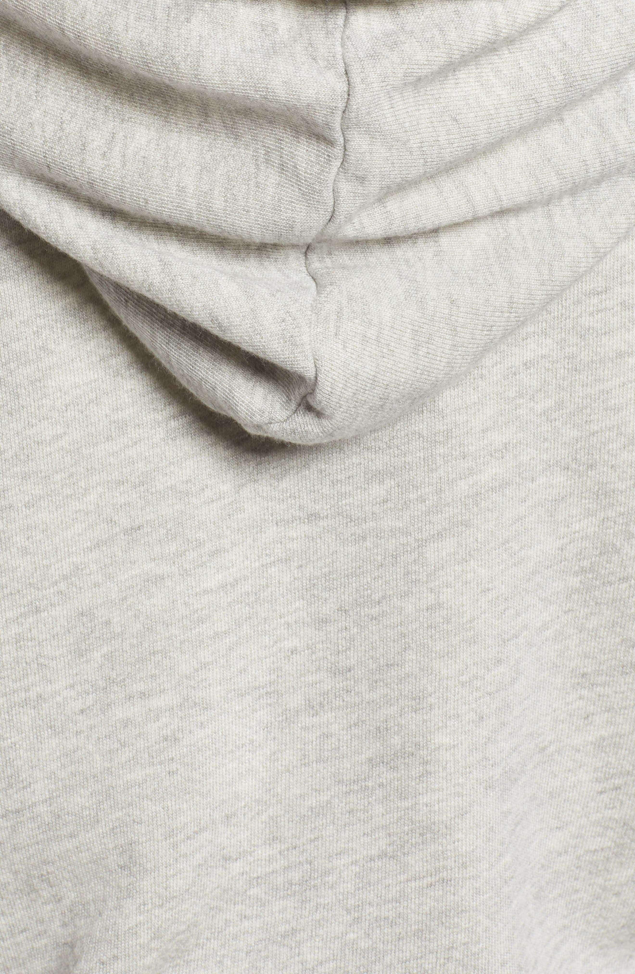 Waldo Short Sleeve Zip Hoodie,                             Alternate thumbnail 6, color,                             HEATHER GREY