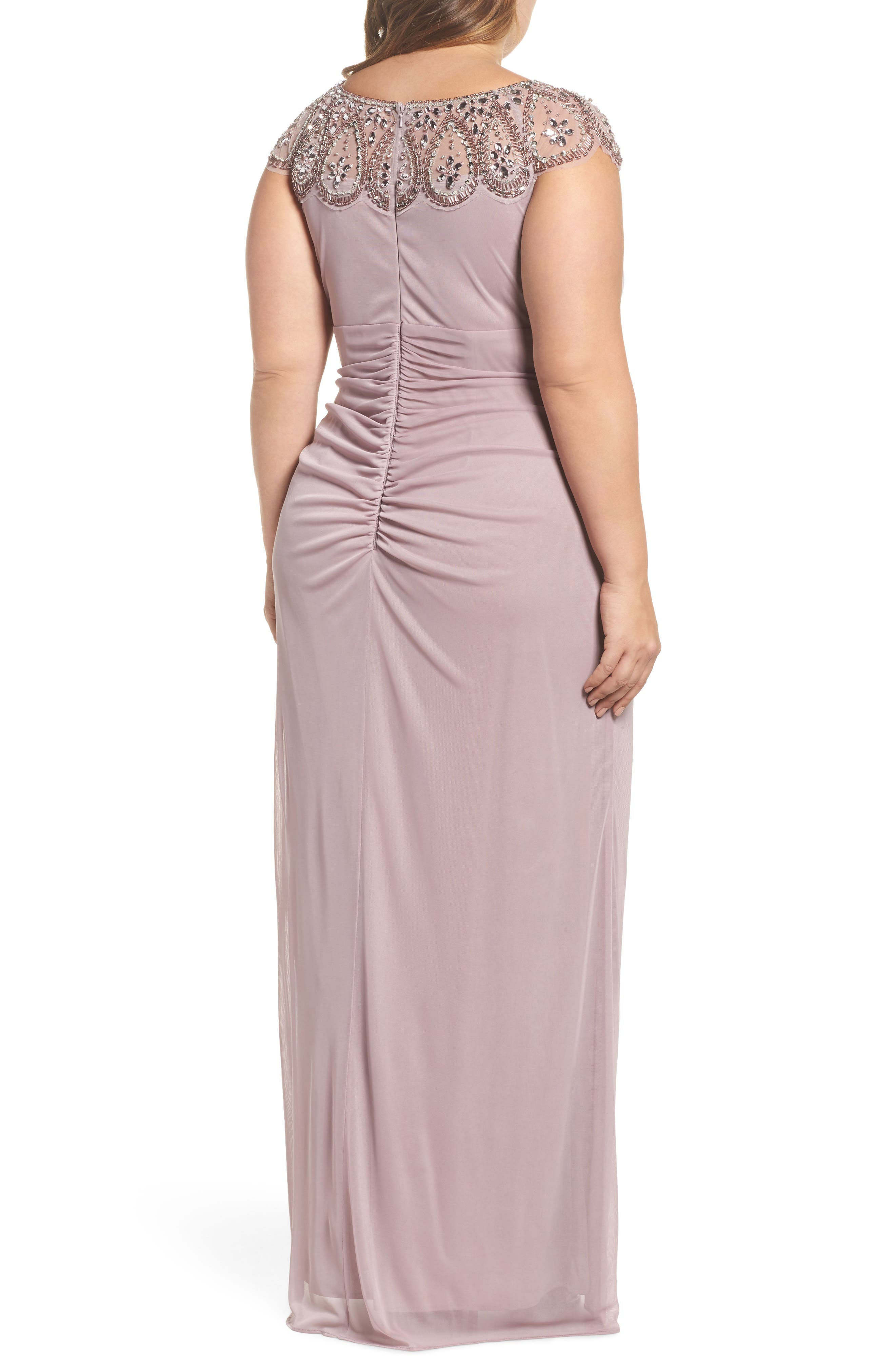 Beaded Neck Empire Gown,                             Alternate thumbnail 2, color,                             500