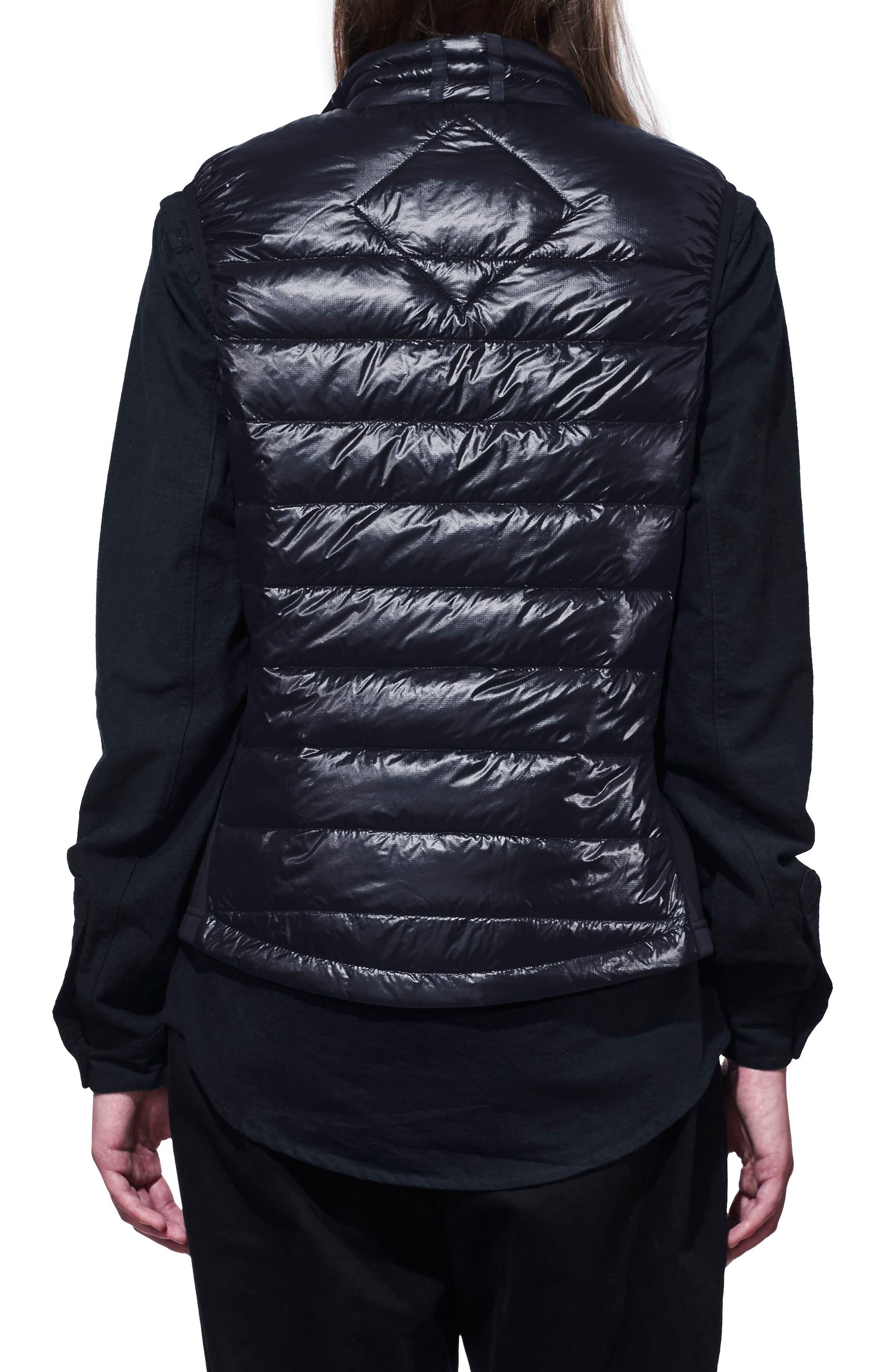 'Hybridge Lite' Slim Fit Packable Down Vest,                             Alternate thumbnail 2, color,                             BLUE/ BLACK