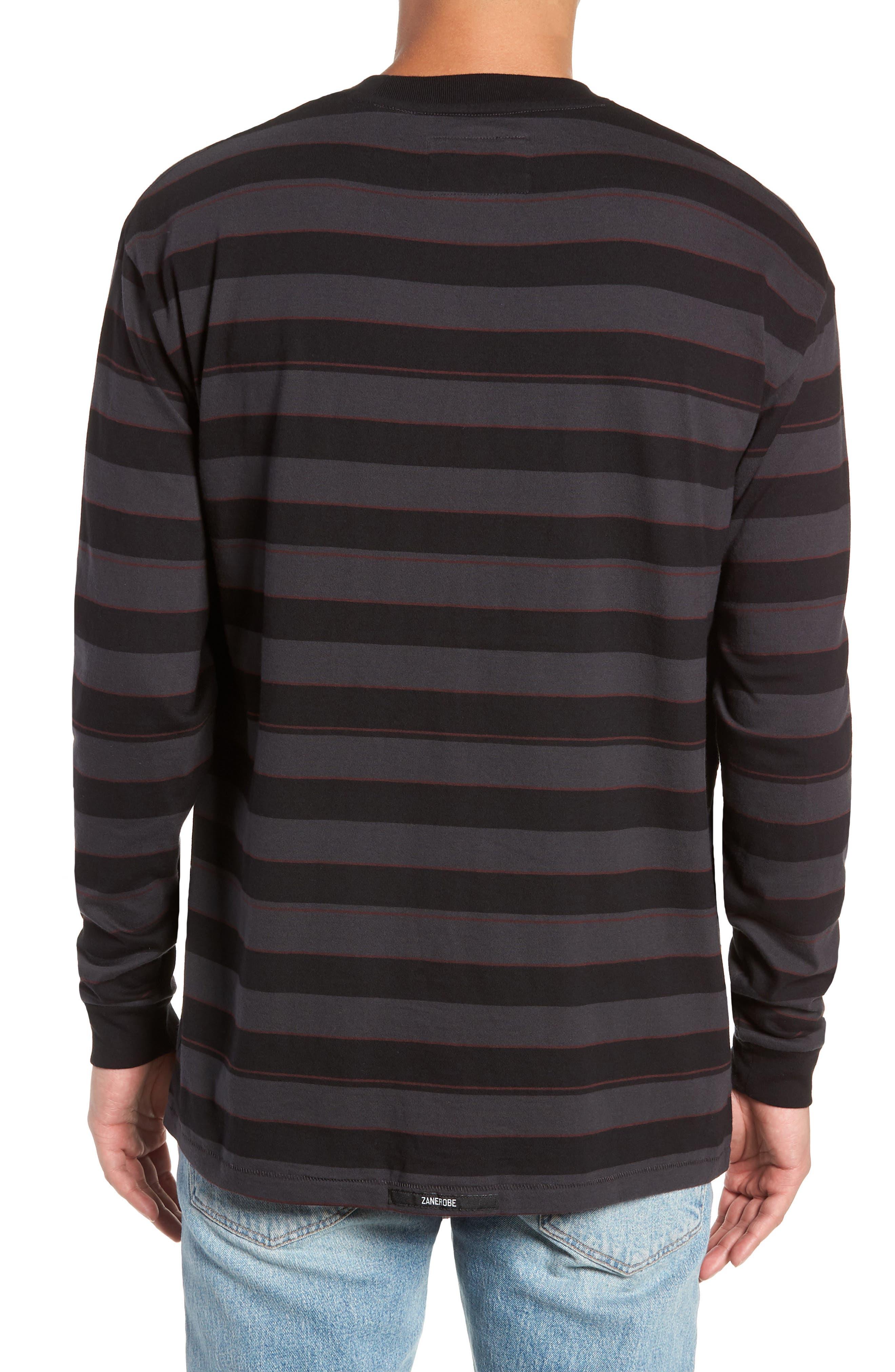 Hoop Box Long Sleeve T-Shirt,                             Alternate thumbnail 2, color,                             VINTAGE BLACK/ BLACK