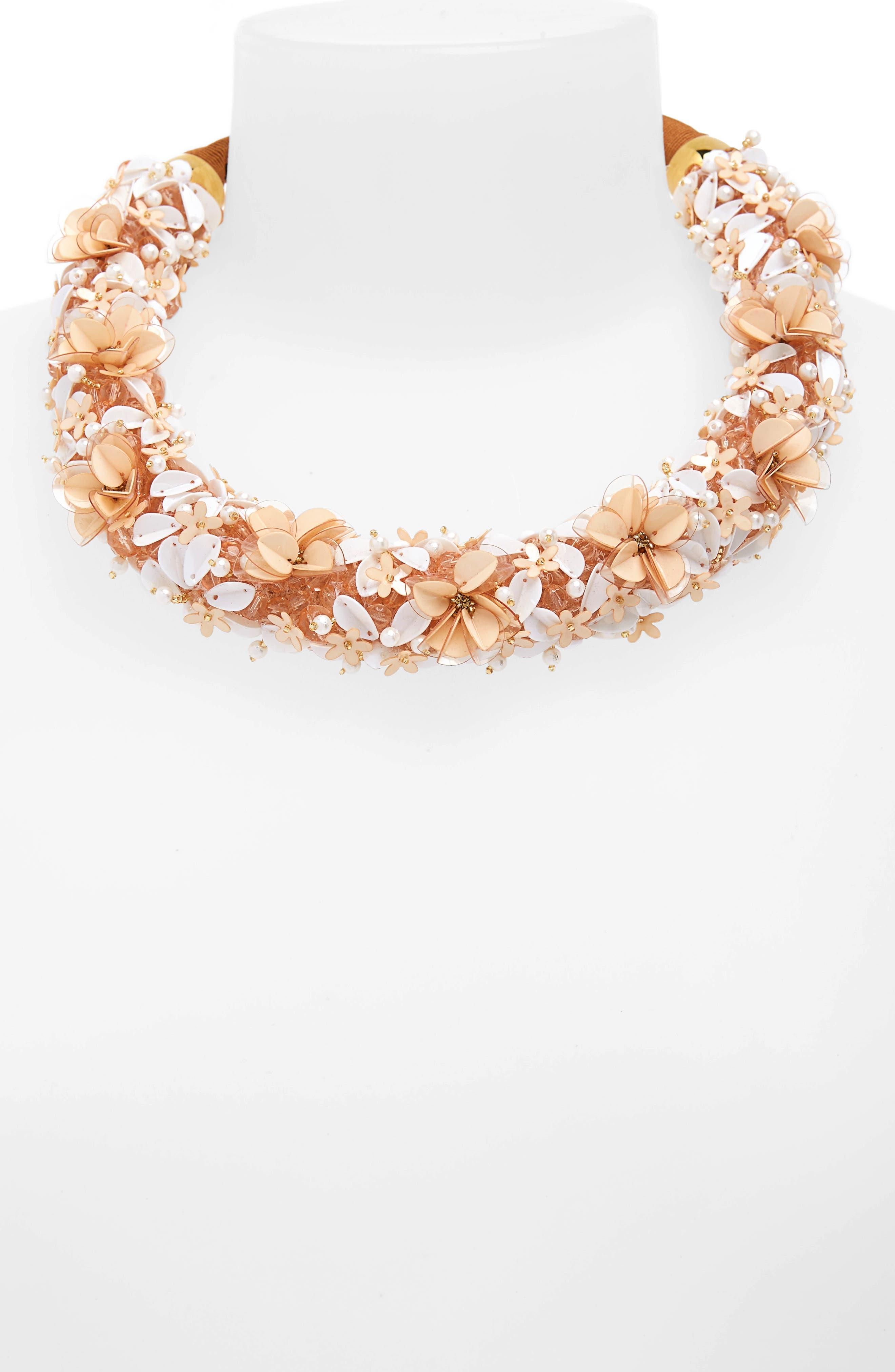 Flower District Collar Necklace,                             Alternate thumbnail 2, color,                             252