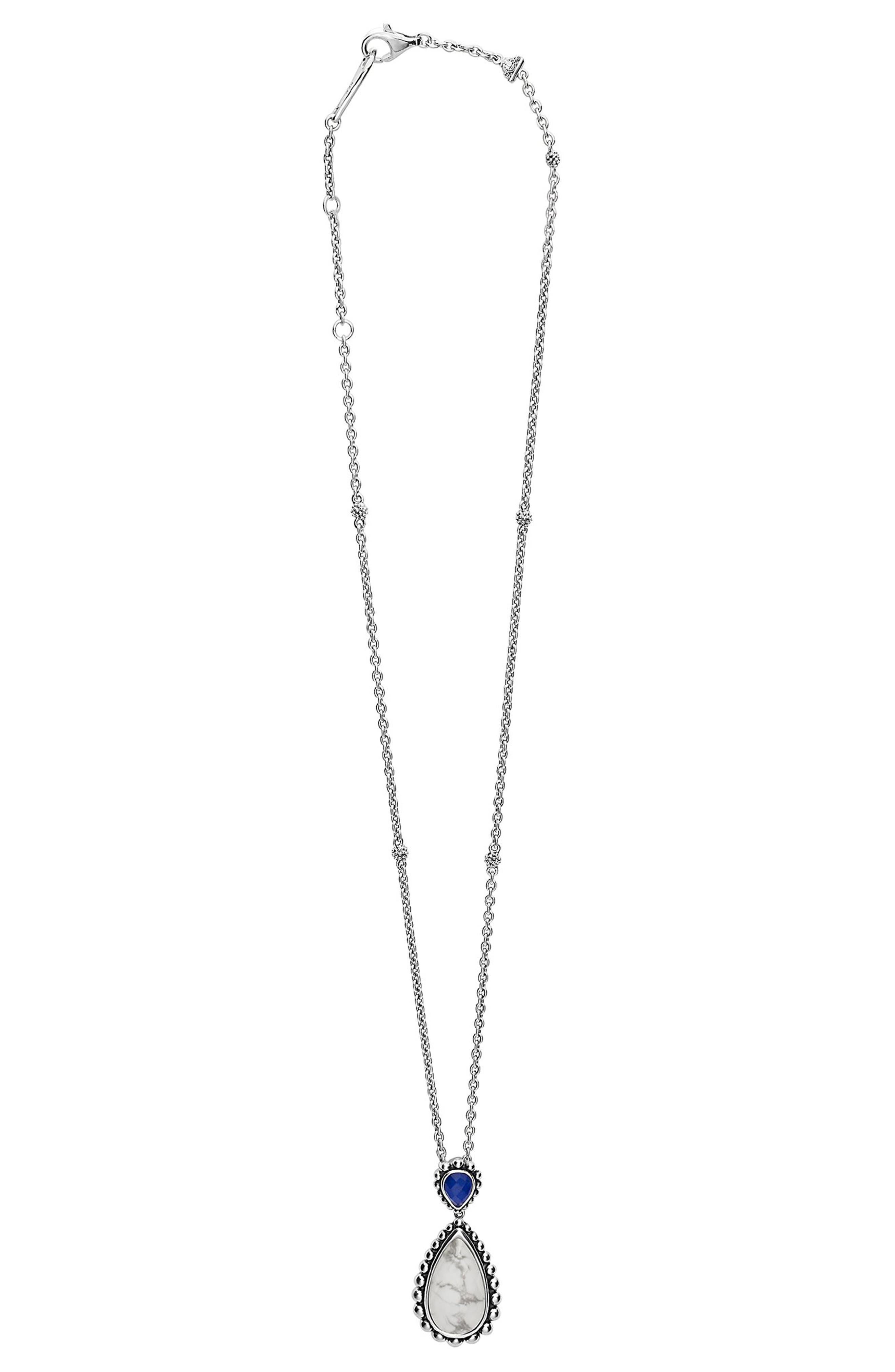 Maya Semiprecious Stone Pendant Necklace,                             Alternate thumbnail 5, color,
