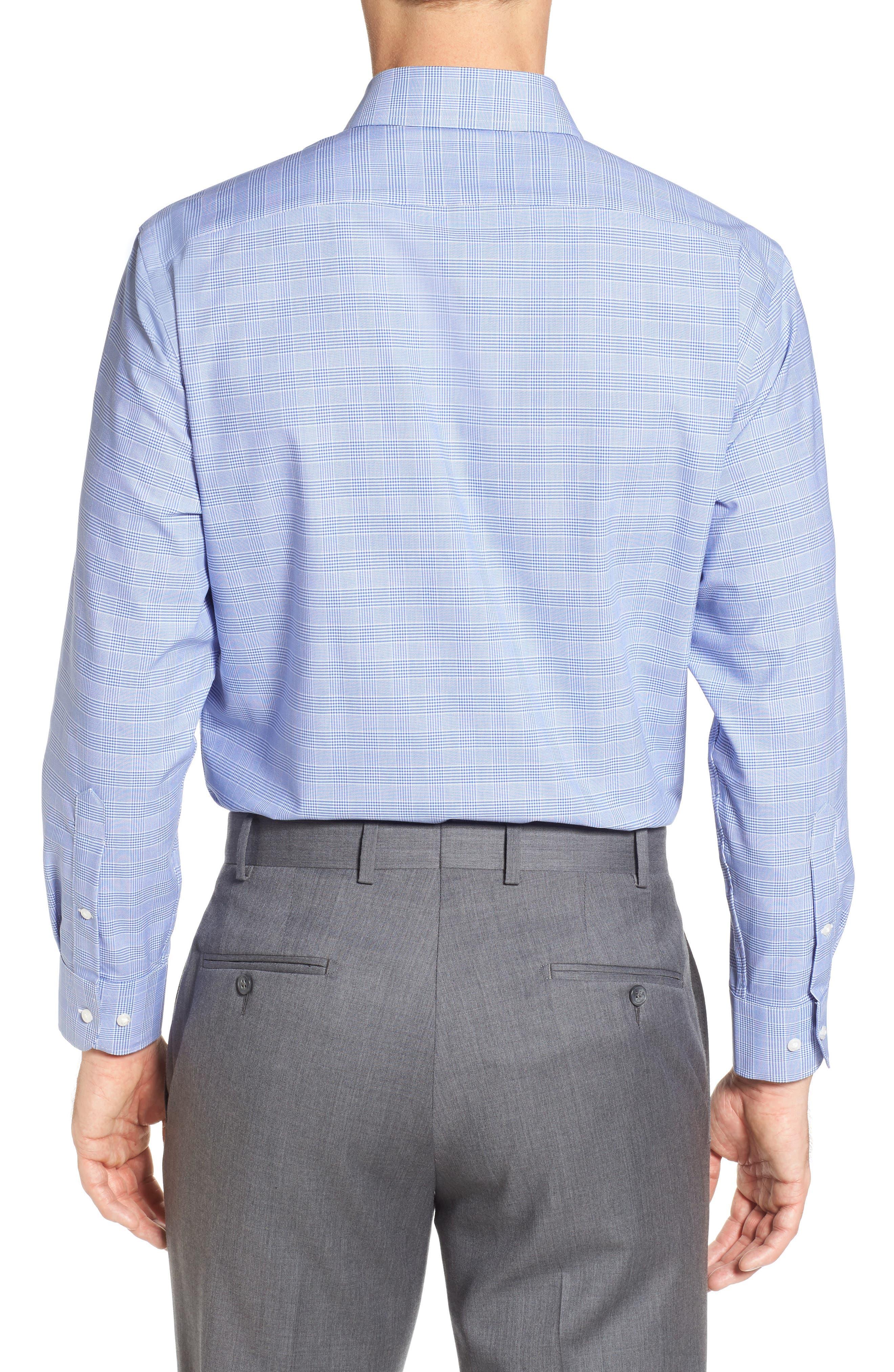 Tech-Smart Traditional Fit Stretch Plaid Dress Shirt,                             Alternate thumbnail 8, color,