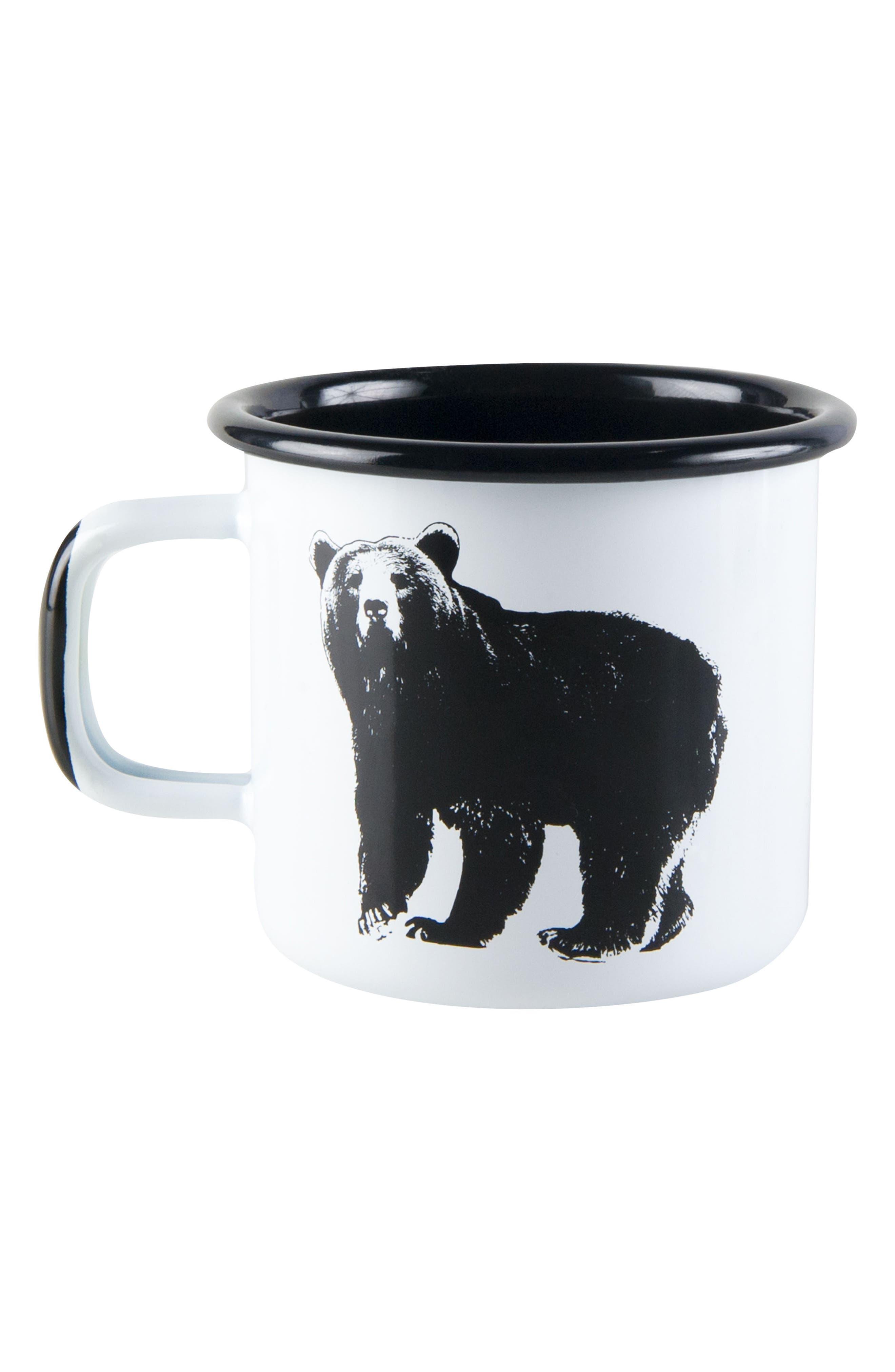 Bear Enamel Mug,                             Main thumbnail 1, color,                             100