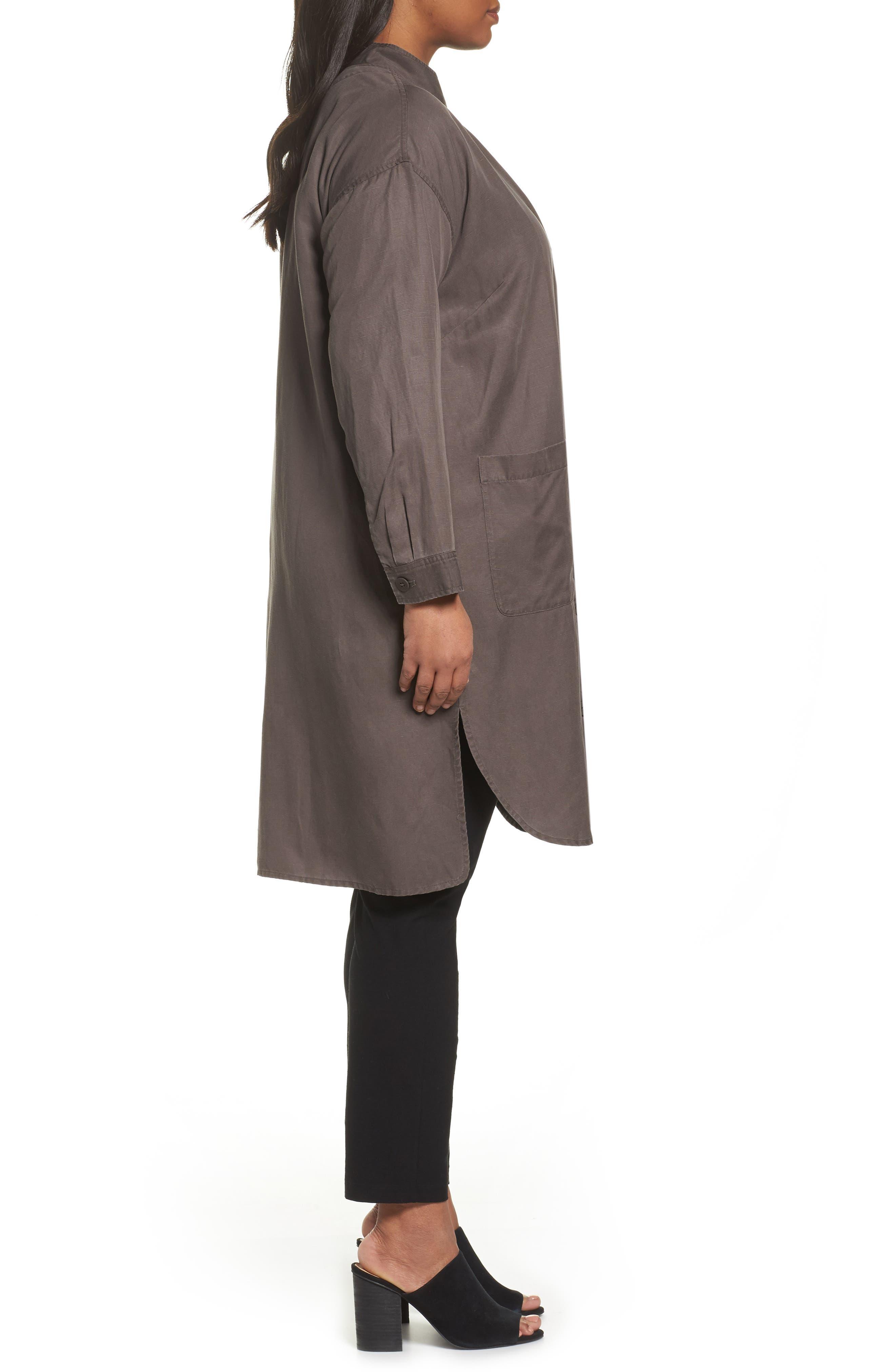 Long Tencel<sup>®</sup> Lyocell & Linen Jacket,                             Alternate thumbnail 5, color,