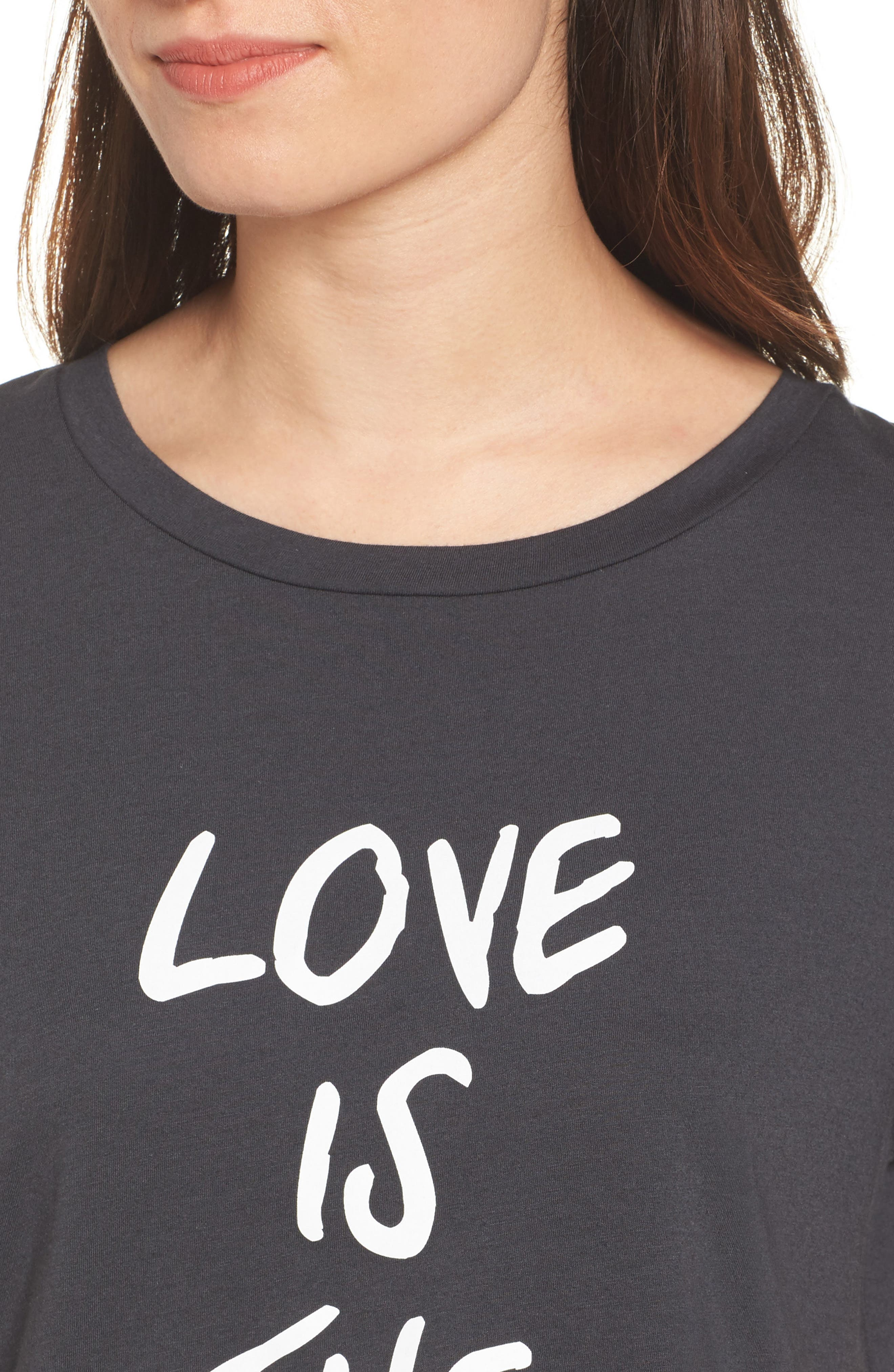Love is the Answer Tee,                             Alternate thumbnail 4, color,                             001
