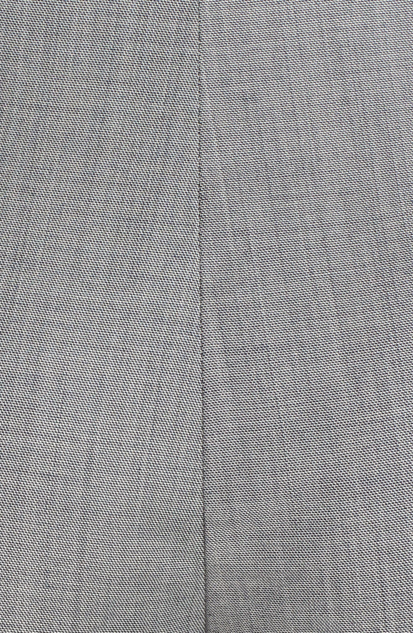 Sharkskin Stretch Wool Blend Skinny Ankle Pants,                             Alternate thumbnail 5, color,                             GREY MULTI
