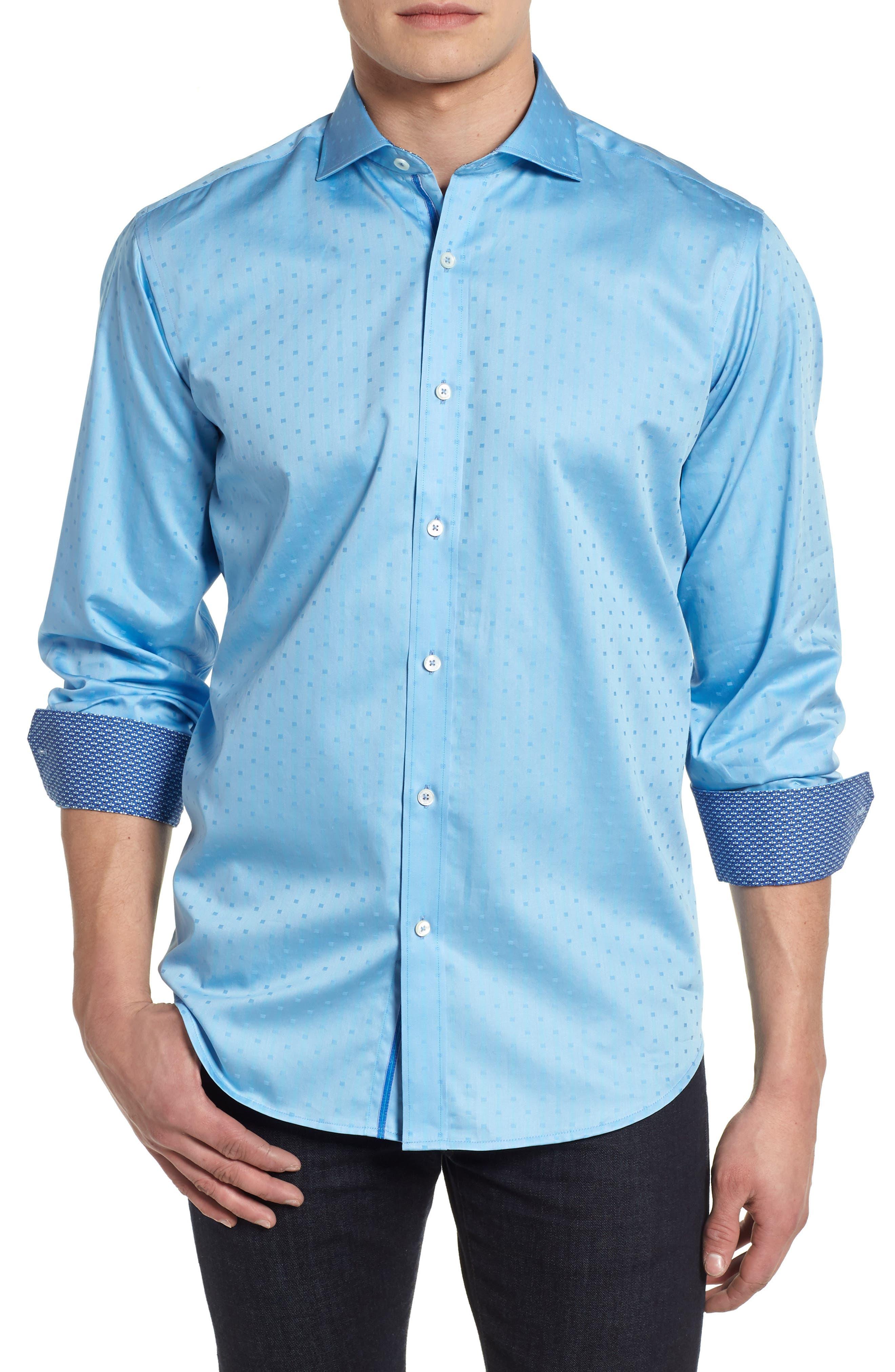 BUGATCHI Woven Sport Shirt, Main, color, 504
